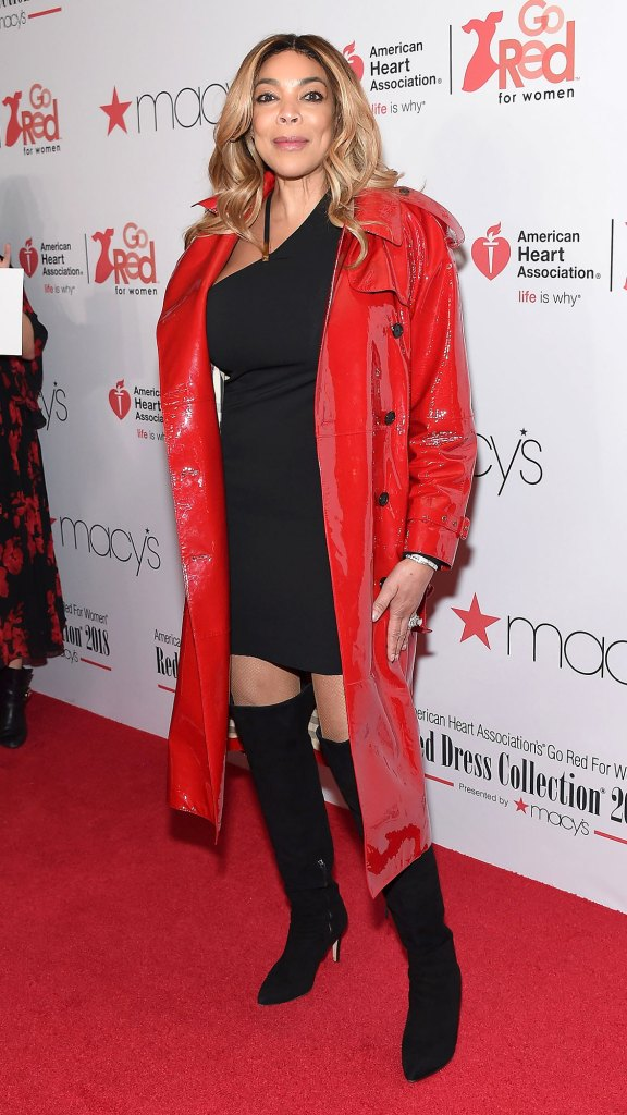 Wendy Williams Red Coat Ditched Wedding Ring