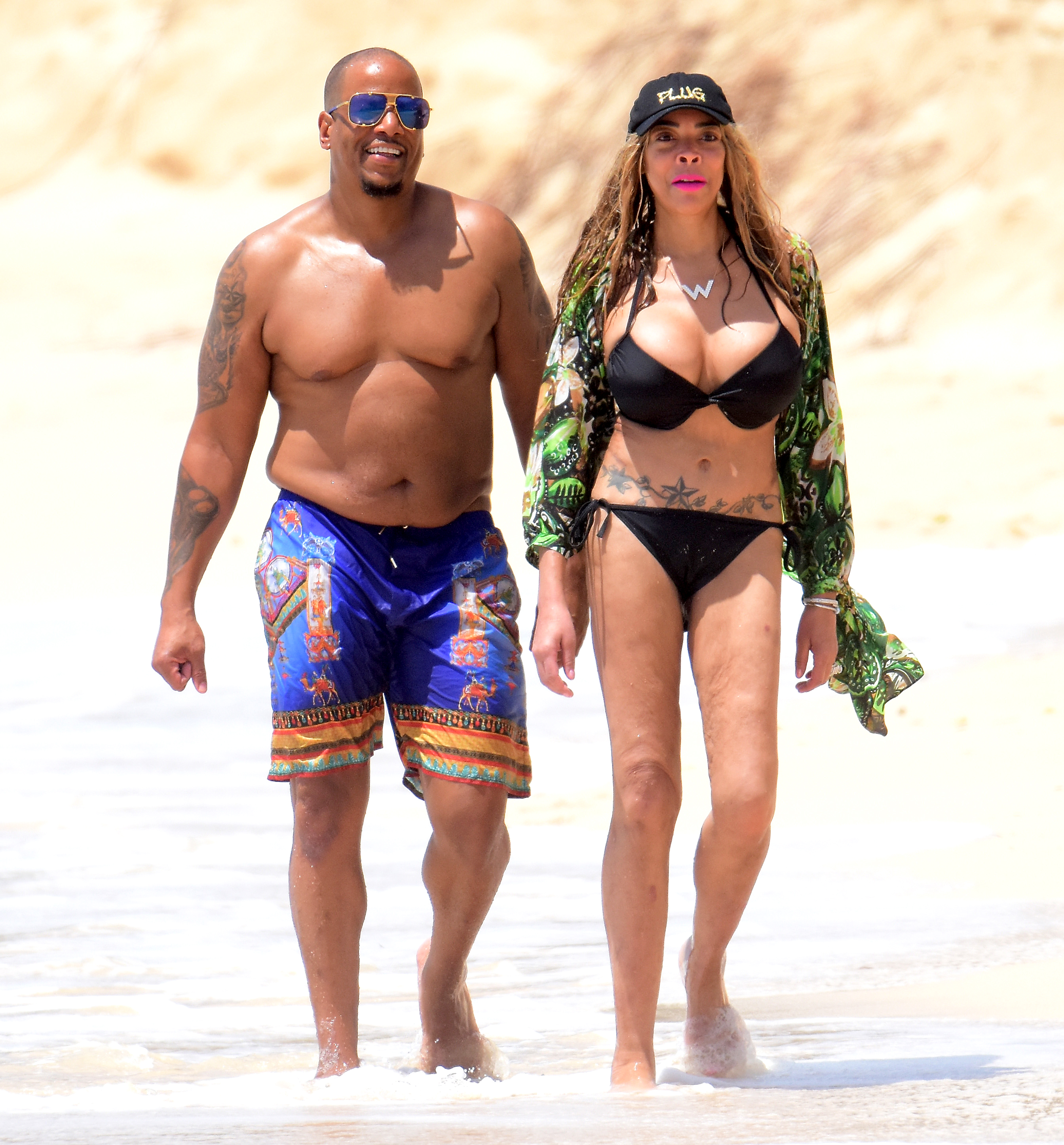 Wendy Williams and Husband Kevin Hunter Are Heading Toward a Split - Wendy Williams and husband Kevin Hunter during a vacation on September 7, 2017 in Barbados.