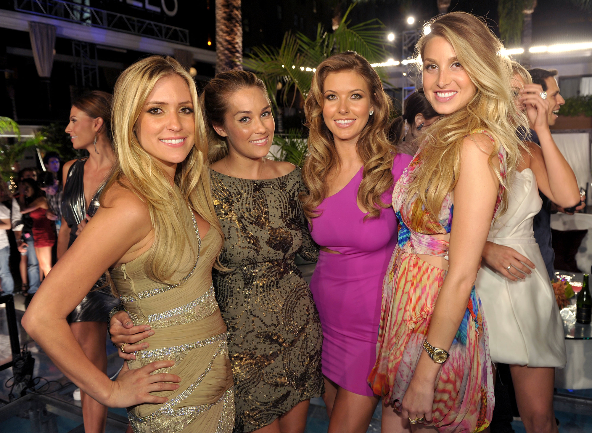 "Whitney Port and 'Hills' Costars Share Parenting Advice - Kristin Cavallari, Lauren Conrad, Audrina Patridge and Whitney Port attend MTV's ""The Hills Live: A Hollywood Ending"" Finale event held at The Roosevelt Hotel on July 13, 2010 in Hollywood, California."