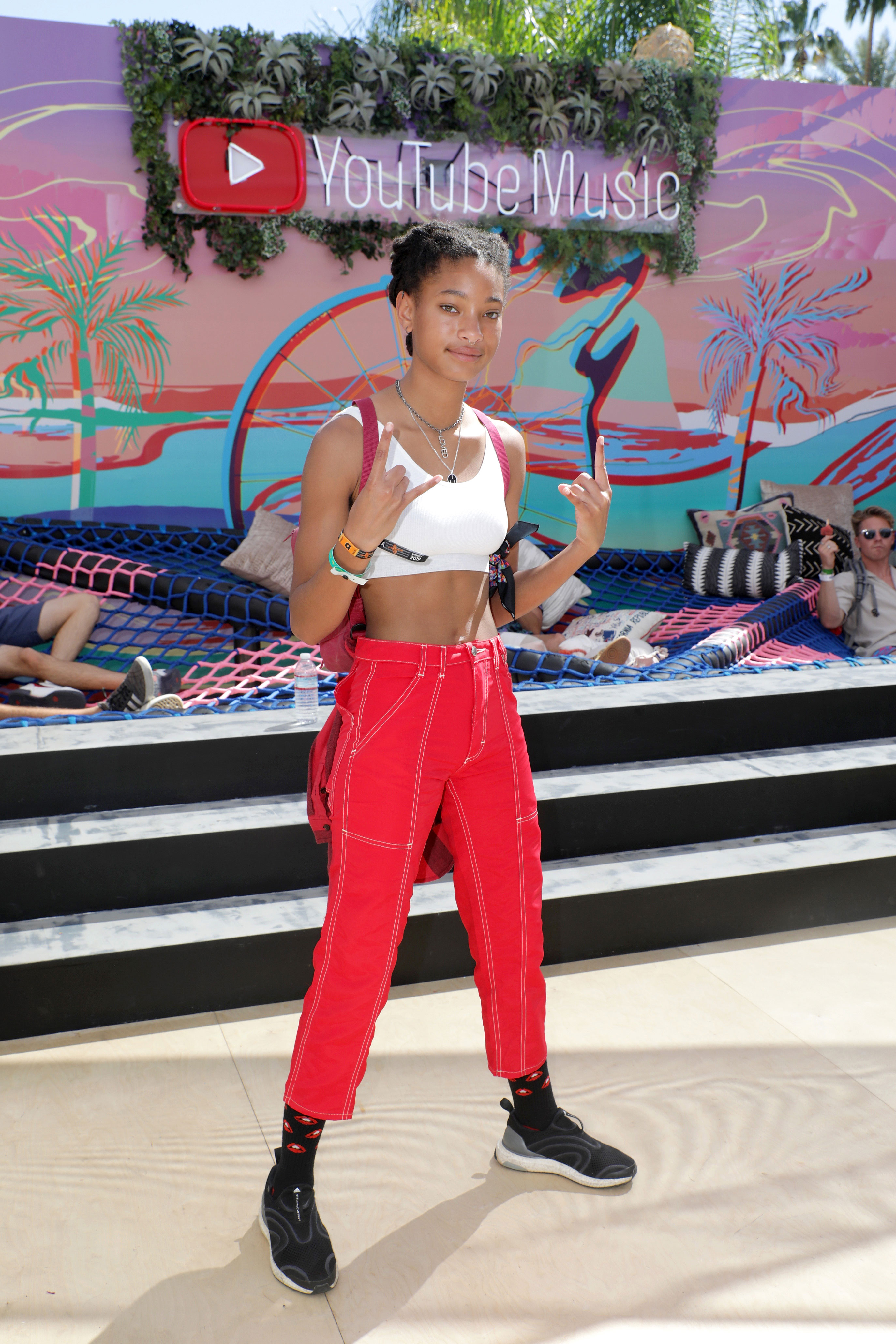 Willow Smith Coachella 2019 - The singer, whose brother Jaden Smith performed on Friday, April 12, was spotted at the YouTube Music Artist Lounge.