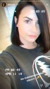 Demi Lovato haircut short