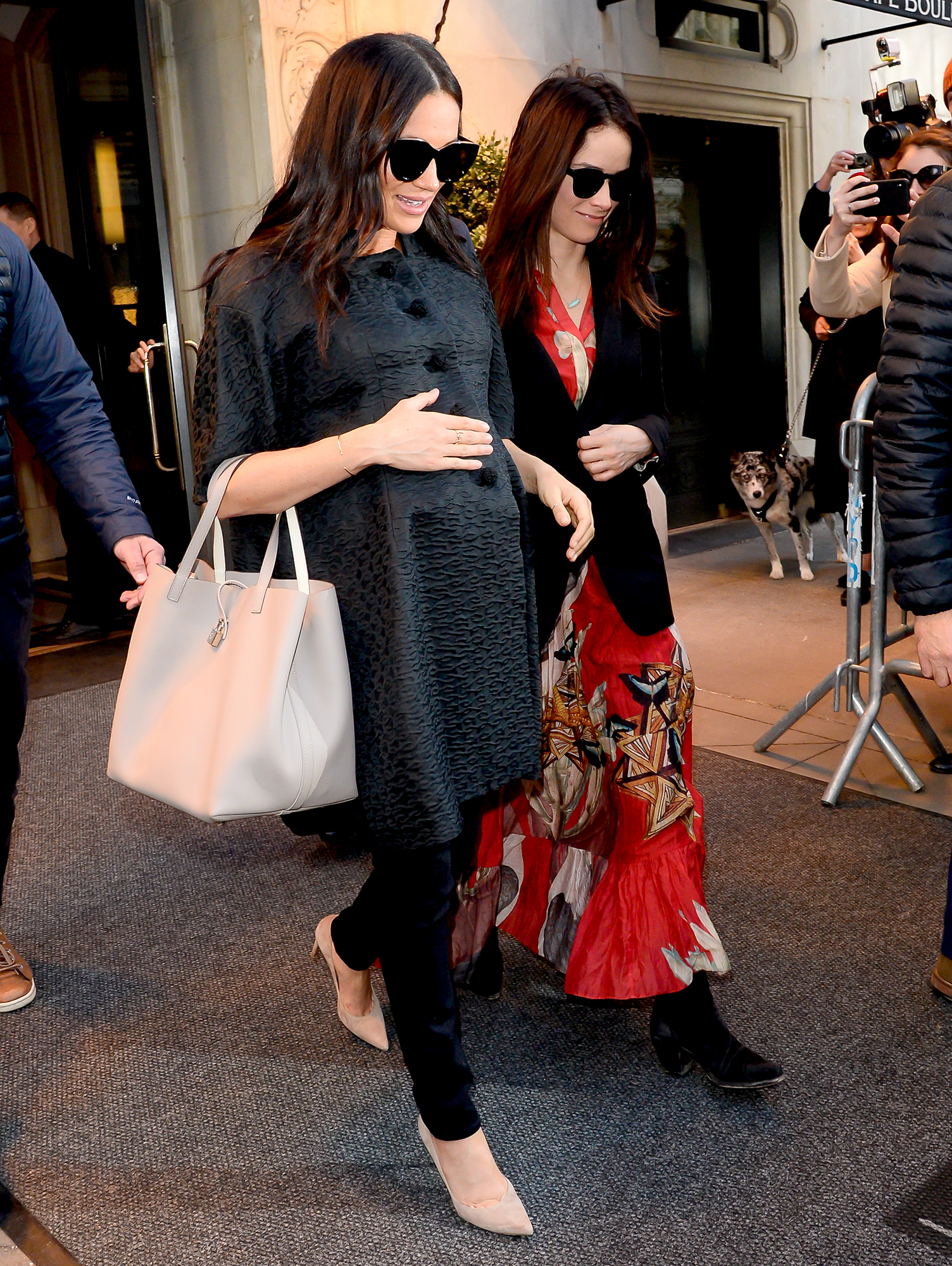 """duchess-meghan-baby-shower - While Harry participated in a Street Games """"Fit and Fed"""" school holiday event with local students in south London, his wife celebrated their unborn baby's arrival with a New York City baby shower on February 20. Gayle King , Amal Clooney and Serena Williams were among the guests at the star-studded party."""
