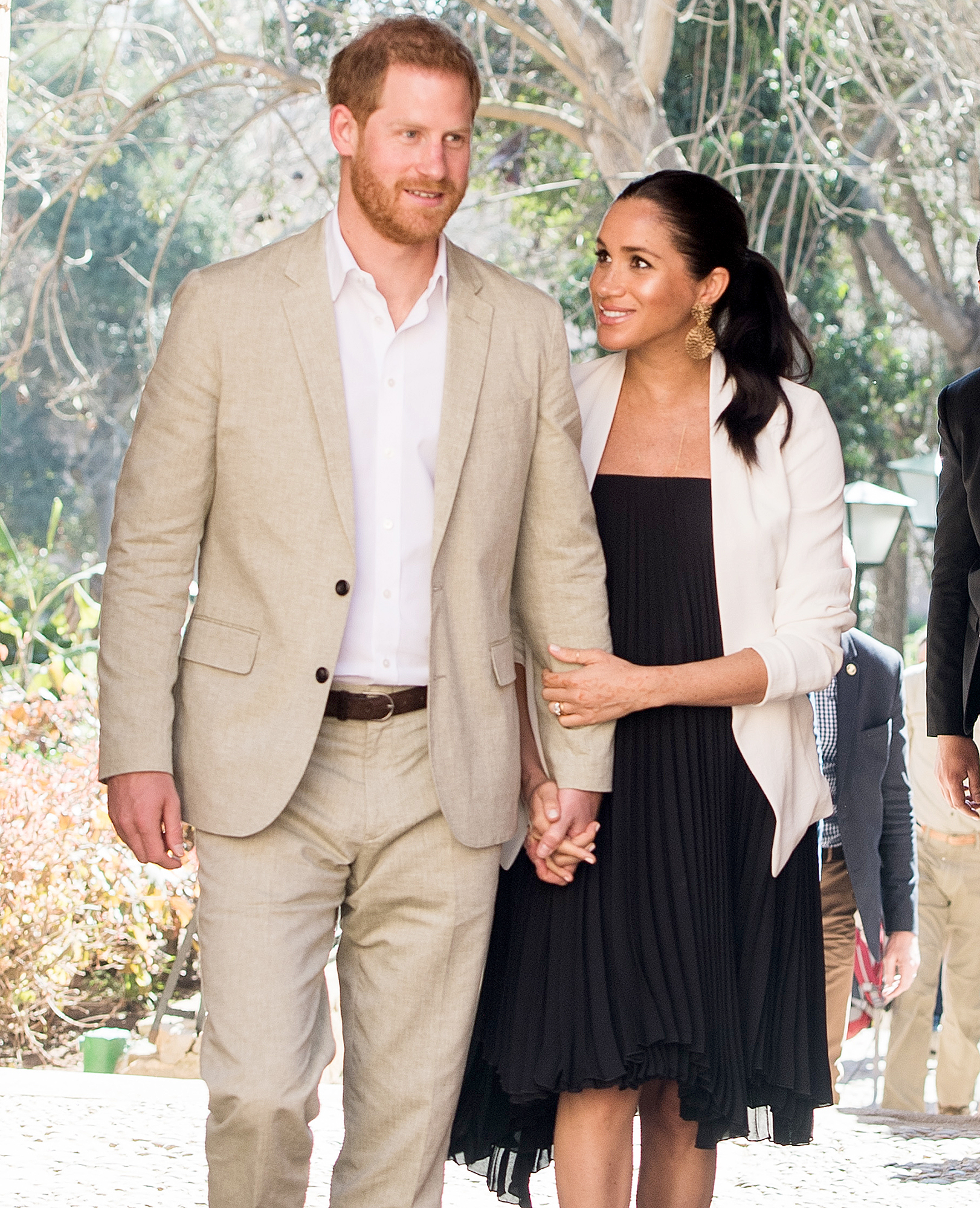 """duchess-meghan-prince-harry-moved-into-Frogmore-Cottage - The duke and duchess moved into Frogmore Cottage in Windsor, England, on April 3. """"The trucks finished delivering the final furniture and home items on Monday, and [Wednesday] was their first night in the cottage,"""" a source told Us Weekly exclusively."""