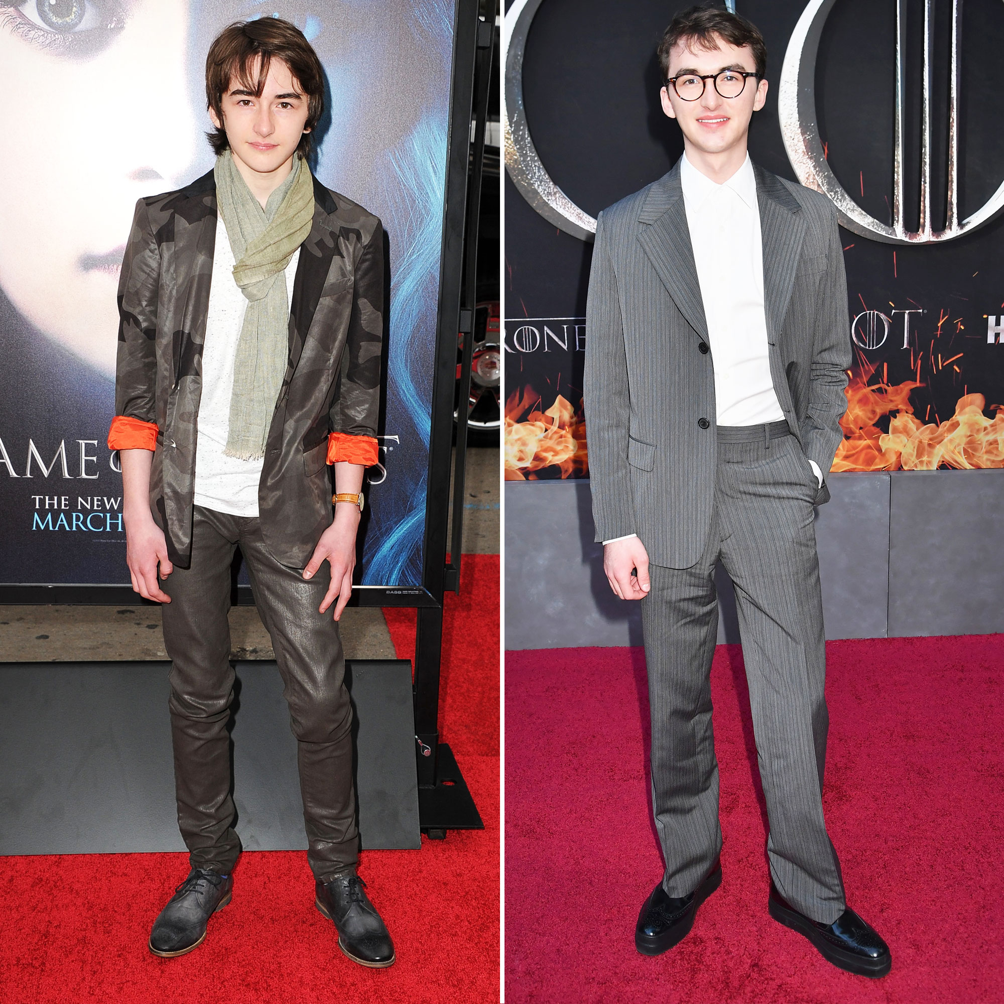 Isaac Hempstead Wright 'Game of Thrones' Stars: From the First 'GoT' Red Carpet Premiere to the Last - The youngest of the living Stark siblings (R.I.P. Rickon) was only 12 years old when the first episode aired. Now, he's part of the twentysomething club!