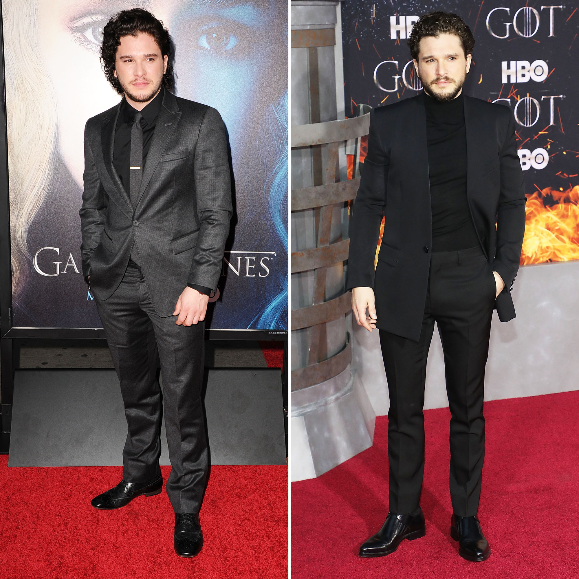 Kit Harington 'Game of Thrones' Stars: From the First 'GoT' Red Carpet Premiere to the Last - When the first episode of Game of Thrones aired on April 17, 2011, Harington was a 24-year-old with luxurious locks and no other professional acting credits to his name. Since the show wrapped filming, however, the hunky actor, who's now in his thirties, cut his long, curly mane and has gone on to star in movies such as Pompeii , The Death and Life of John F. Donovan and even lent his voice to the animated How to Train Your Dragon franchise.