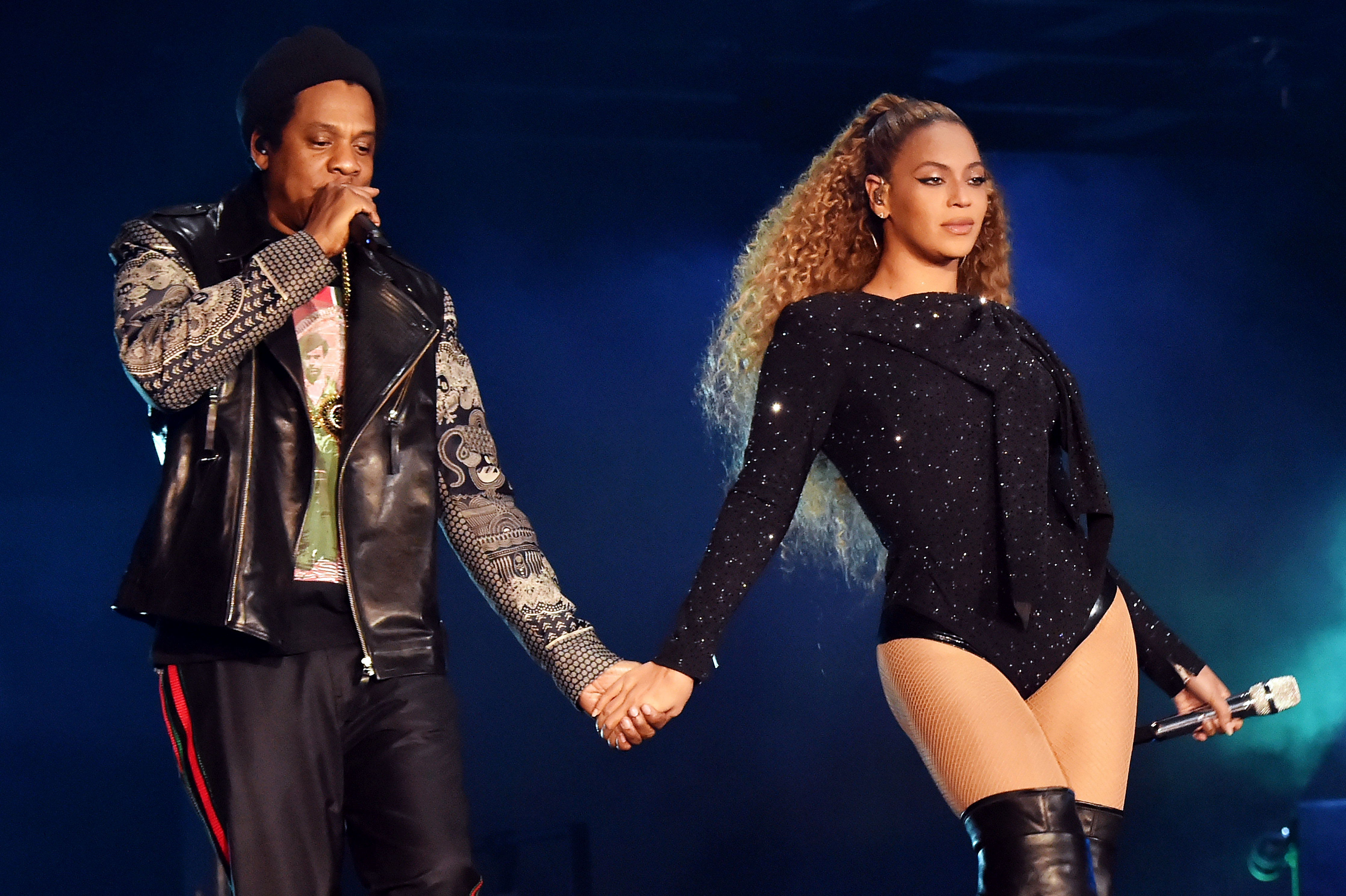 """jay-z-beyonce-2018-gallery-slide - Two days after her 37th birthday, Beyoncé shared a message on her website about her family and career — and, for the first time, confirmed rumors that she """"renewed my vows with my husband of 10 years."""""""