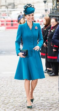 Catherine, Duchess of Cambridge Duchess Kate Is All Smiles in a Teal Coat Dress