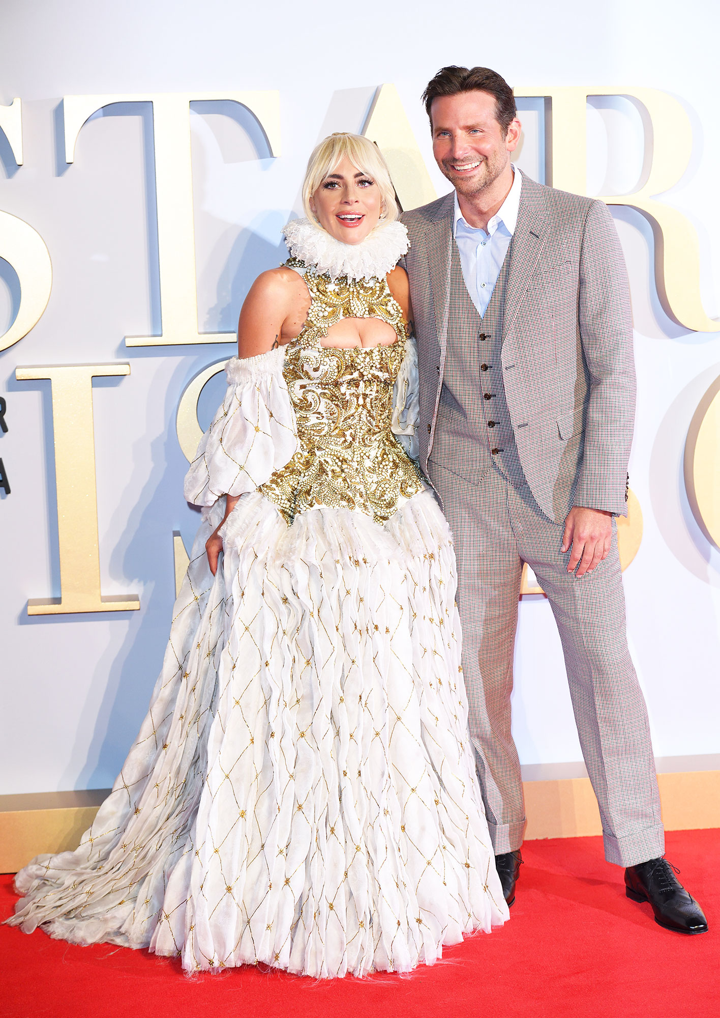 Lady Gaga and Bradley Cooper billboard awards - Lady Gaga and Bradley Cooper attend the UK premiere of 'A Star Is Born' at the Vue West End on September 27, 2018 in London, England.