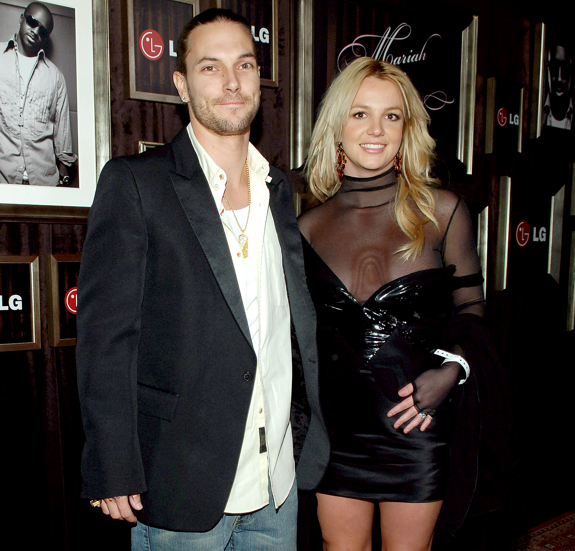 main-Kevin-Federline,-Britney-Spears - Kevin Federline and Britney Spears during Mariah Carey and Jermaine Dupri Host GRAMMY After Party Sponsored by LG at Private Home in Hollywood, Califormia, United States. (Photo by J.Sciulli/WireImage for Ogilvy Public Relations)