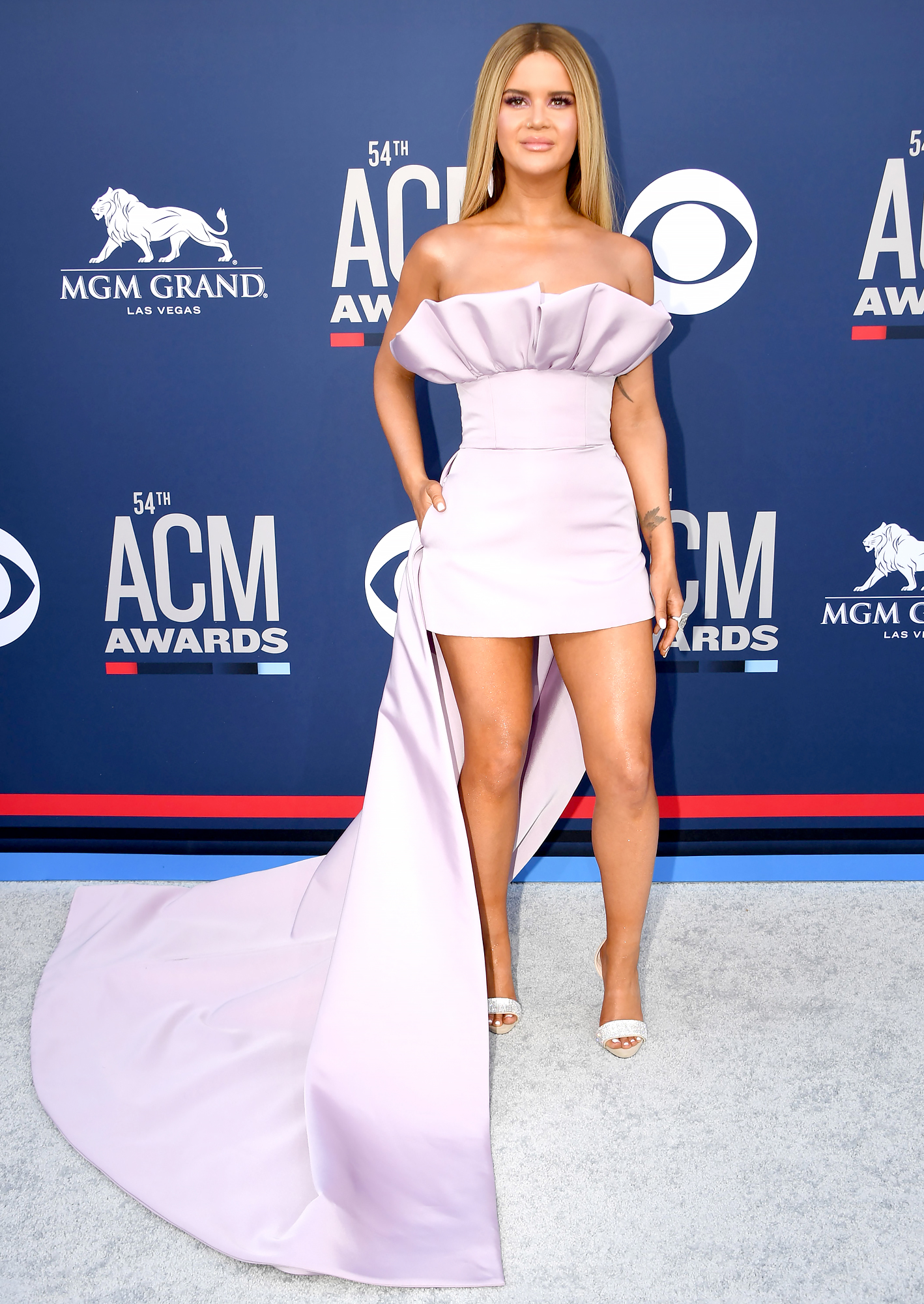 maren-morris-acms - Maren Morris arrives for the 54th Academy of Country Music Awards on April 7, 2019, at the MGM Grand Garden Arena in Las Vegas, Nevada.