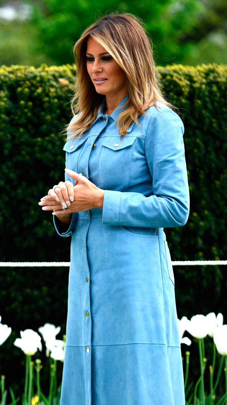 Melania Trump Heads to the Easter Egg Roll in a $5,000 Michael Kors Dress
