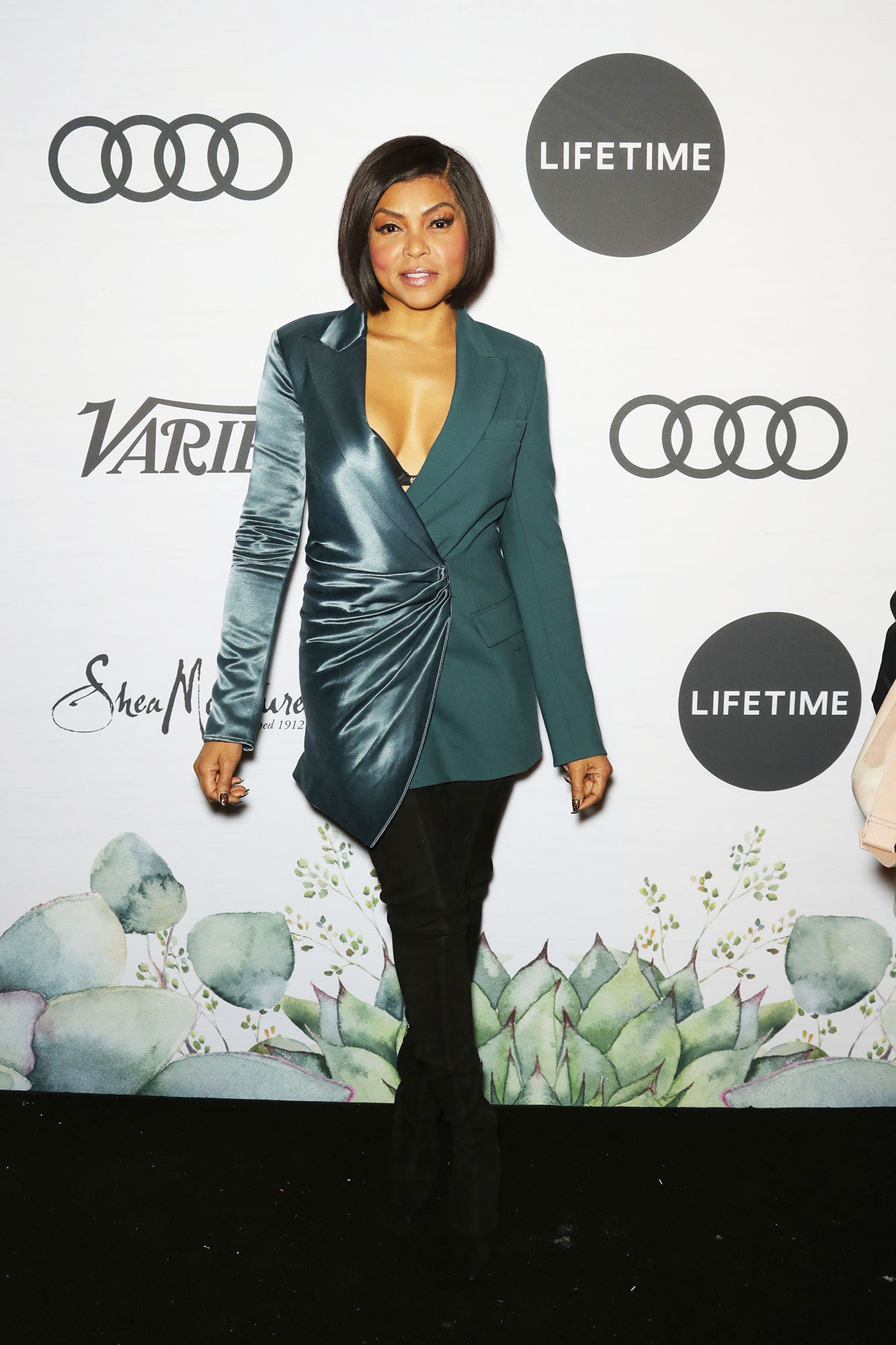 Taraji P. Henson Variety's Power of Women - The Empire star stunned in a two toned teal blazer with black pants.