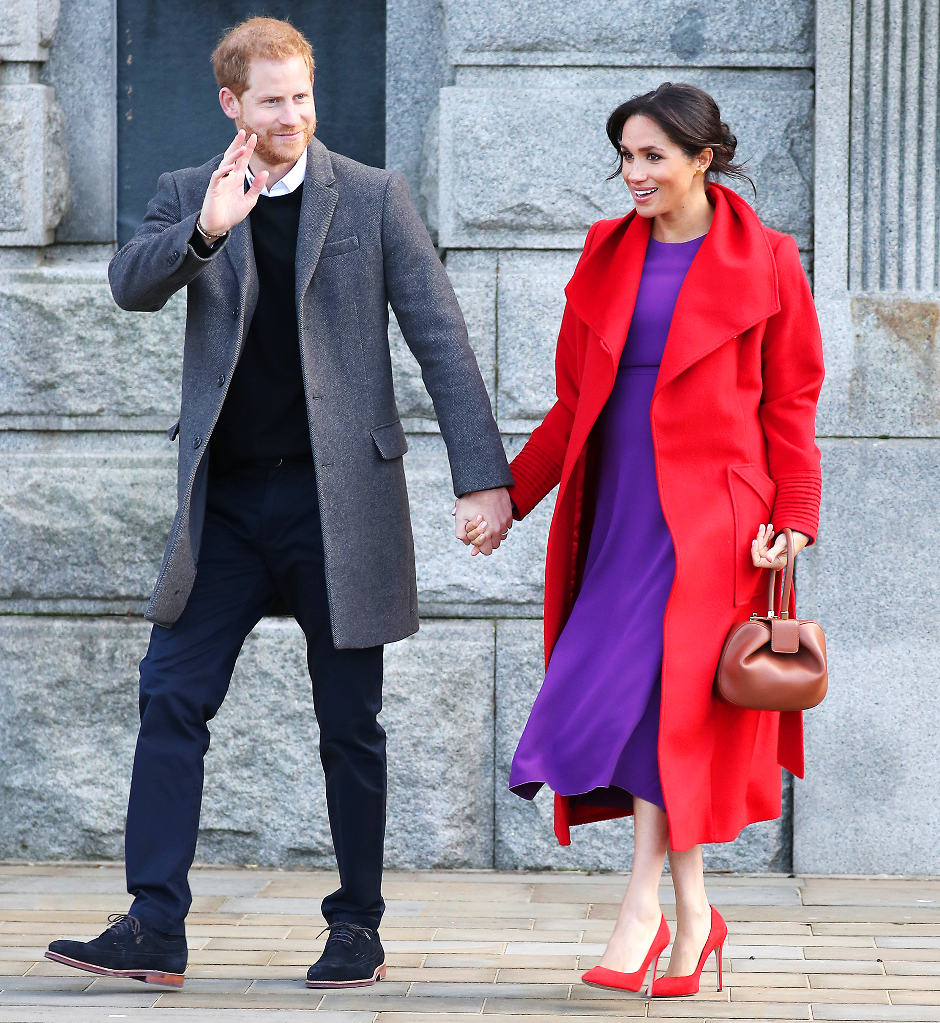 prince-harry-duchess-meghan-due-date - Due date alert! While talking to locals in Birkenhead, England, with her husband on January 14, Meghan said that their baby would arrive in late April or early May.