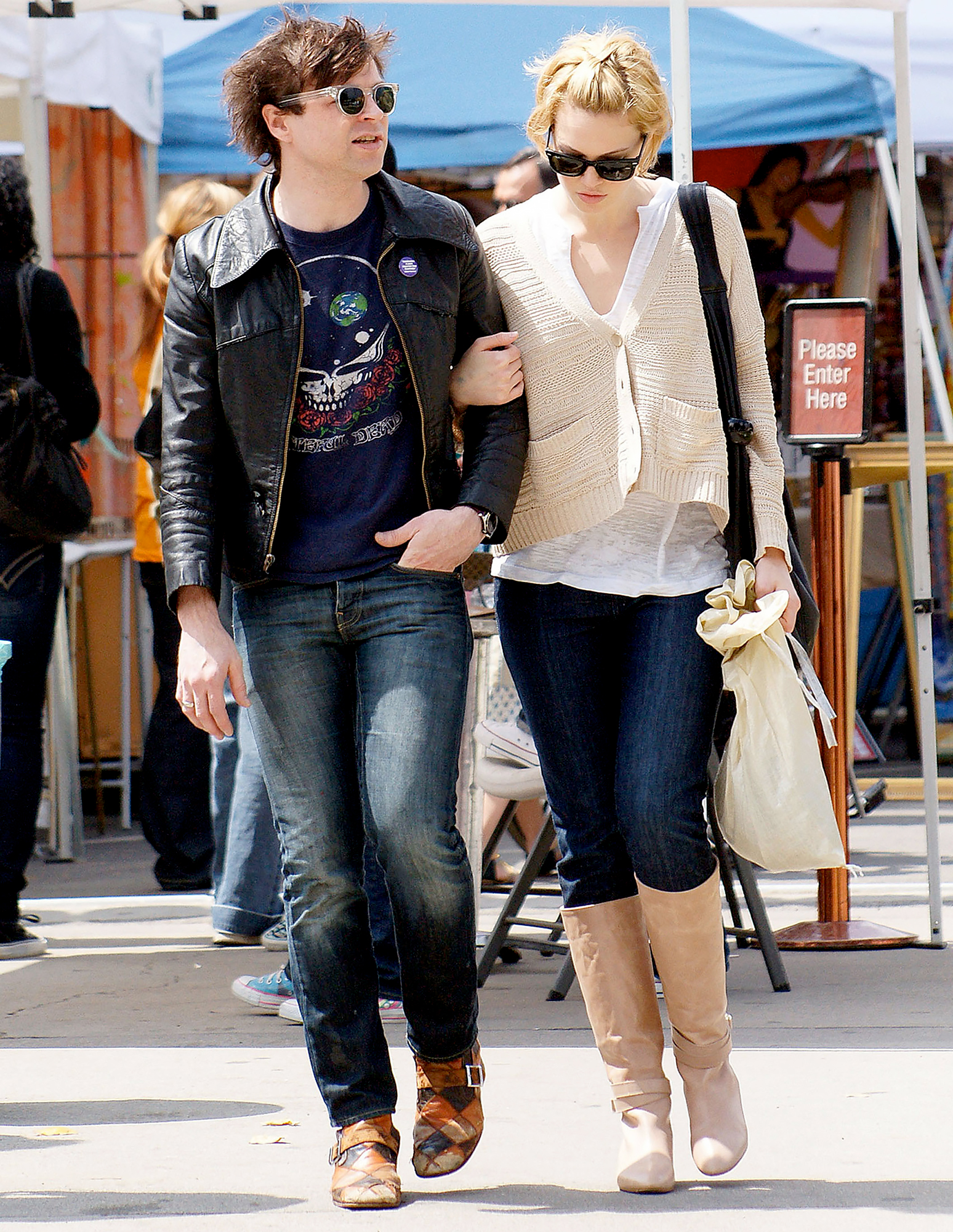 ryan-adams-mandy-moore-abuse-claims - Ryan Adams and Mandy Moore sighting at the flea market on March 29, 2009 in West Hollywood, California.