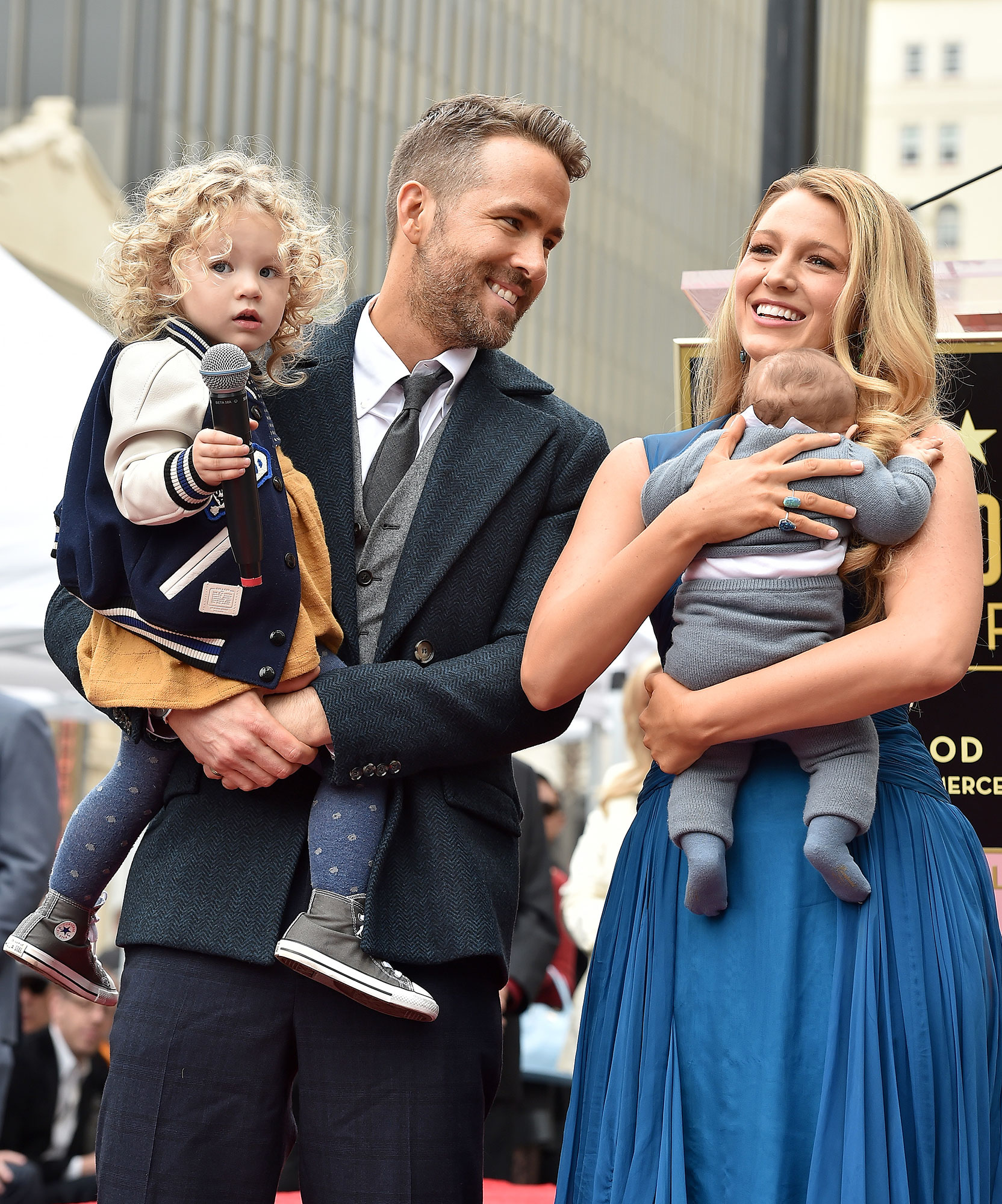 Ryan Reynolds and Blake Lively with Daughters James Reynolds and Ines Reynolds - Ryan Reynolds and Blake Lively with daughters James Reynolds and Ines Reynolds attend the ceremony honoring Ryan Reynolds with a Star on the Hollywood Walk of Fame on December 15, 2016 in Hollywood, California.