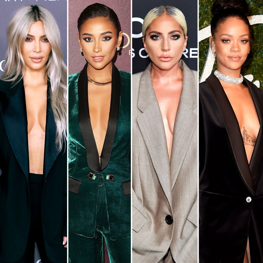 Kim Kardashian, Shay Mitchell, Lady Gaga and Rihanna Kim Kardashian, Demi Lovato and More in Shirtless Tuxedos: Our Ultimate Style Inspo