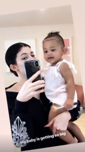 Kylie Jenner Posted an Instagram Story of Stormi Webster Proving Like Mother, Like Daughter