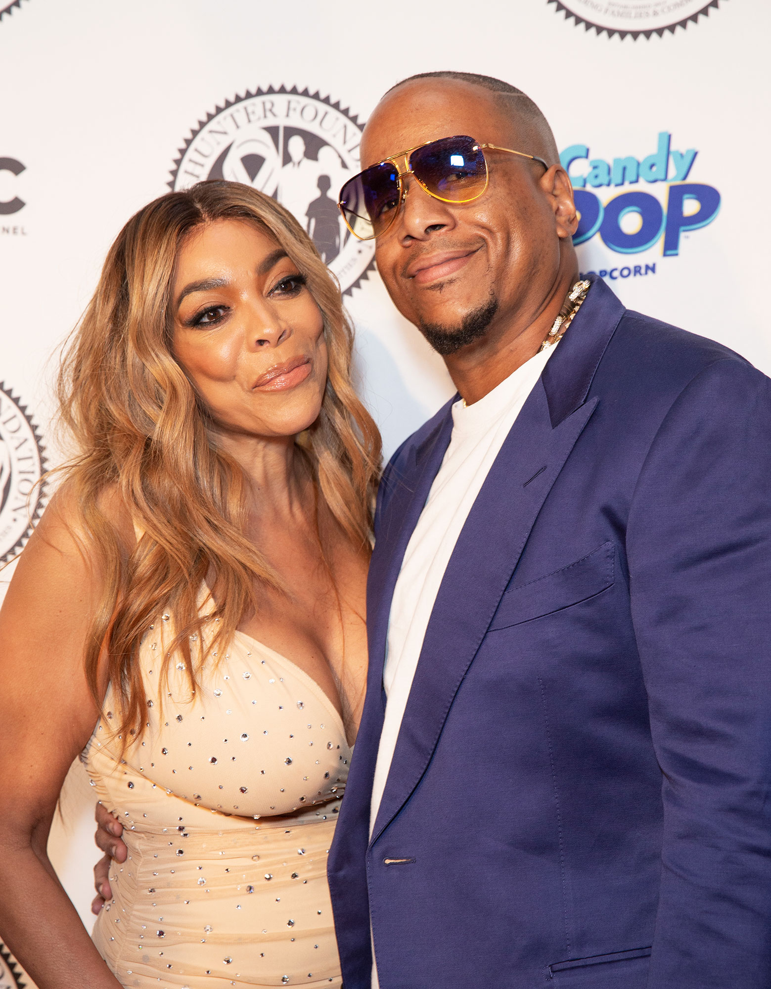 wendy williams kevin hunter candy pop - Wendy Williams wearing dress by Norma Kamali and Kevin Hunter attend Wendy Williams and The Hunter Foundation gala at Hammerstein Ballroom.
