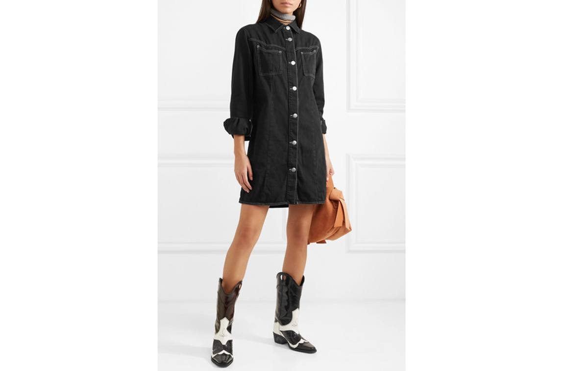 western-denim-dress