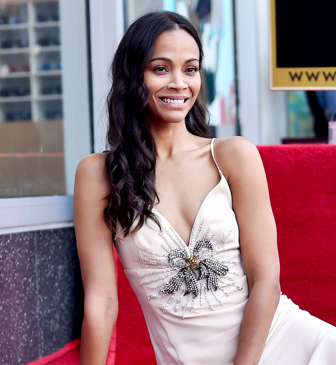 Stars' Hangover Cures - HOLLYWOOD, CA – MAY 03: Honoree Zoe Saldana at the Zoe Saldana Walk Of Fame Star Ceremony on May 3, 2018 in Hollywood, California. (Photo by Alberto E. Rodriguez/Getty Images for Disney)