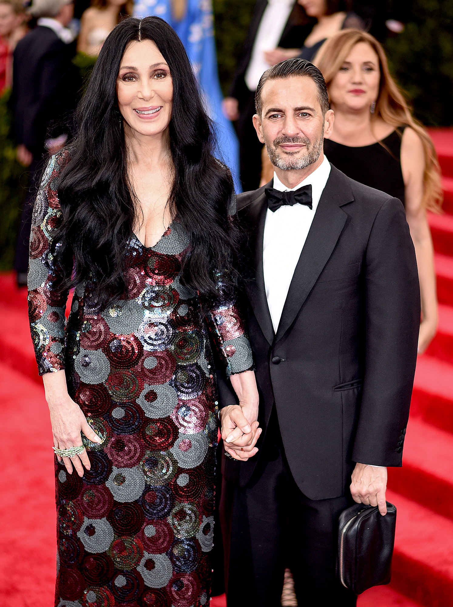 2015-Cher - For the 2015 Met Gala, the Mermaid's actress wore a Marc Jacobs sequin-covered gown that was a bit more tame than her usual picks.