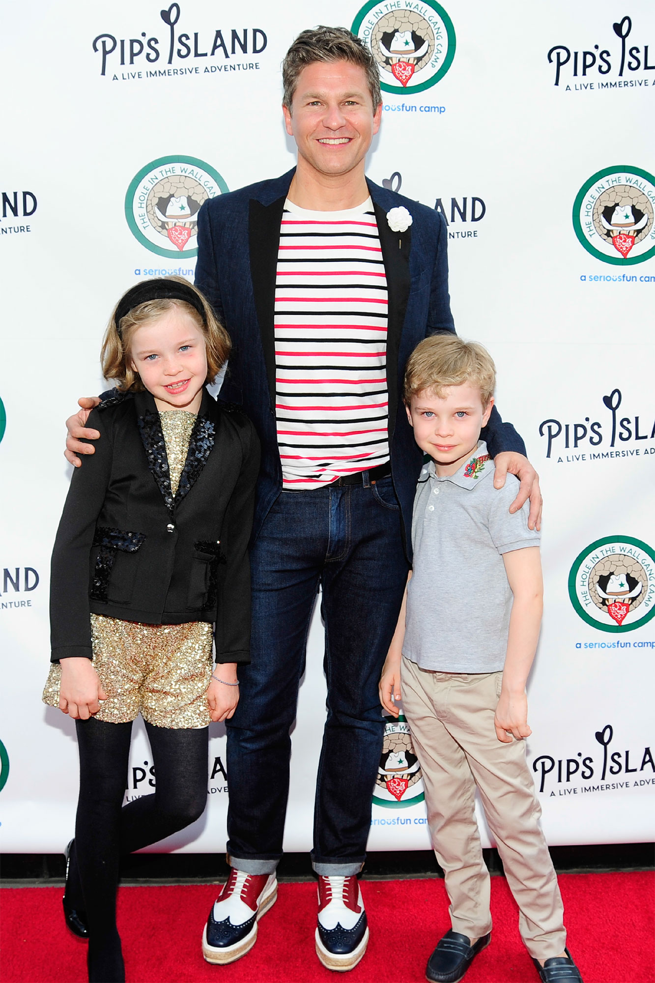 Harper Burtka-Harris, David Burtka and Gideon Burtka-Harris
