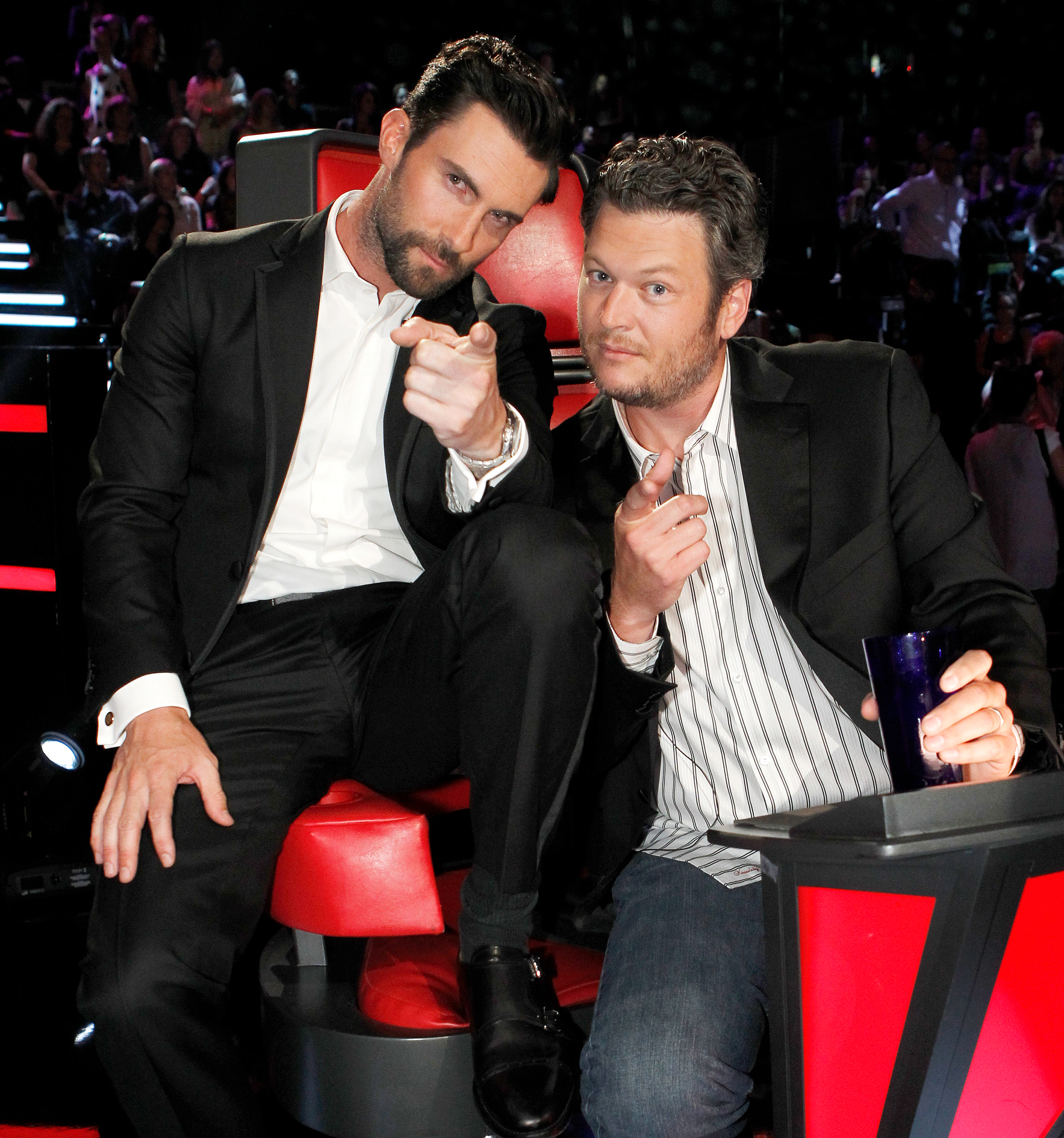 """Adam-Levine-Blake-Shelton - Shelton's heartfelt message to the Maroon 5 frontman featured some of the duo's signature banter. """"Having a hard time wrapping my head around @adamlevine not being at @NBCTheVoice anymore,"""" the country singer tweeted."""