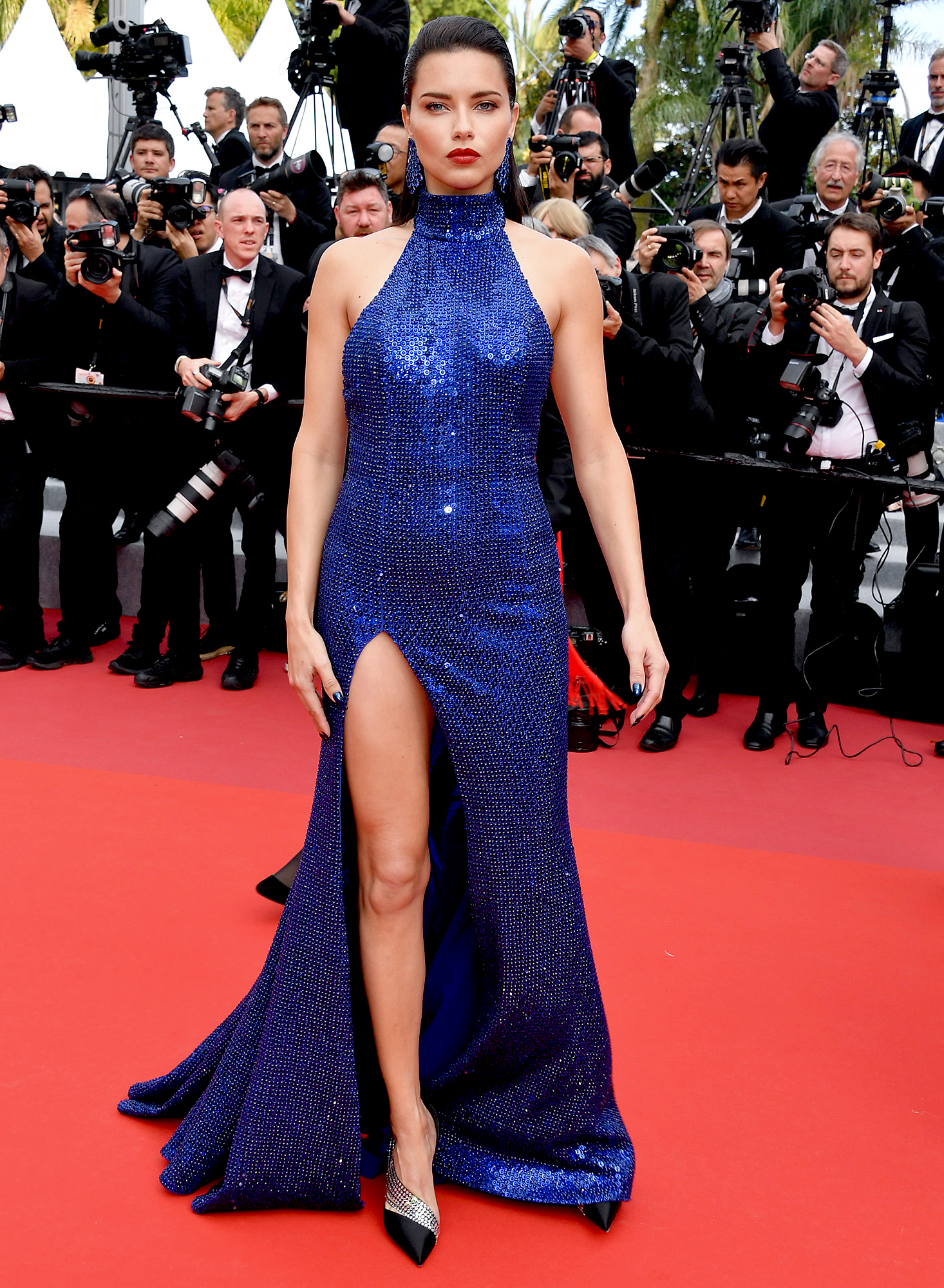 Adriana-Lima - At the Oh Mercy! screening on Wednesday, May 22, the model sparkled in a Michael Kors mock-neck gown.