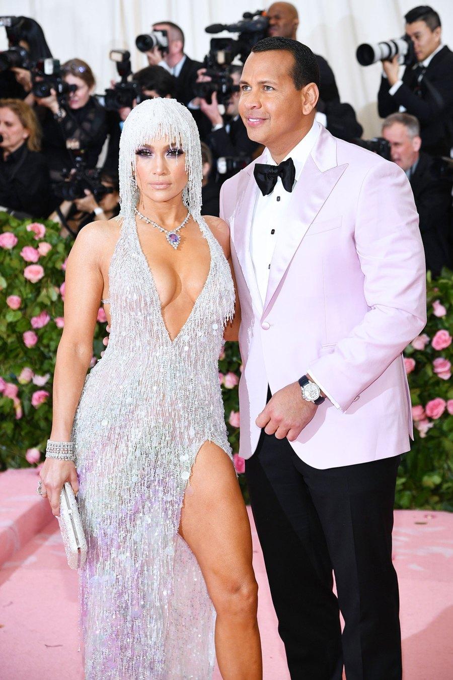 Alex Rodriguez and Jennifer Lopez Pink Carpet Met Gala 2019