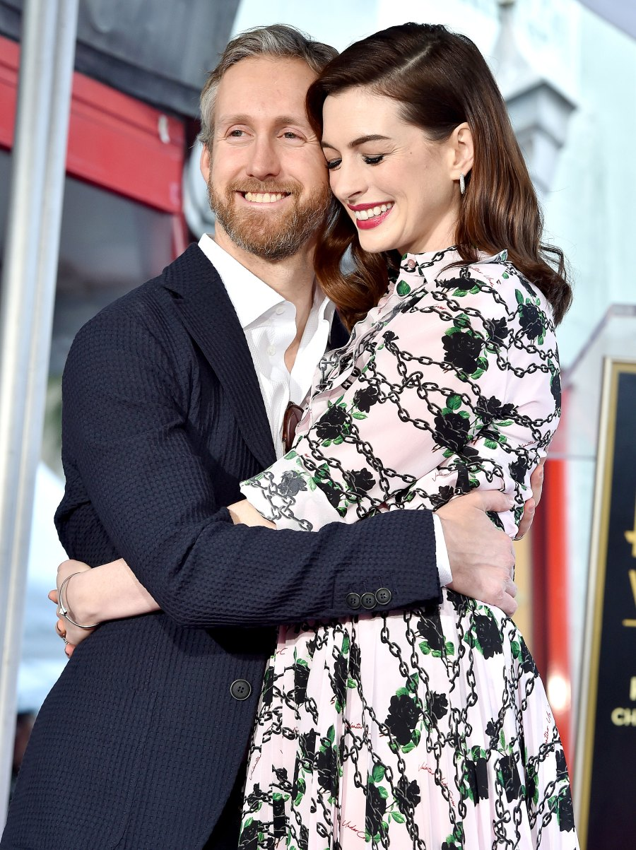 Anne Hathaway and Husband Adam Shulman Snuggle Up in Rare Appearance