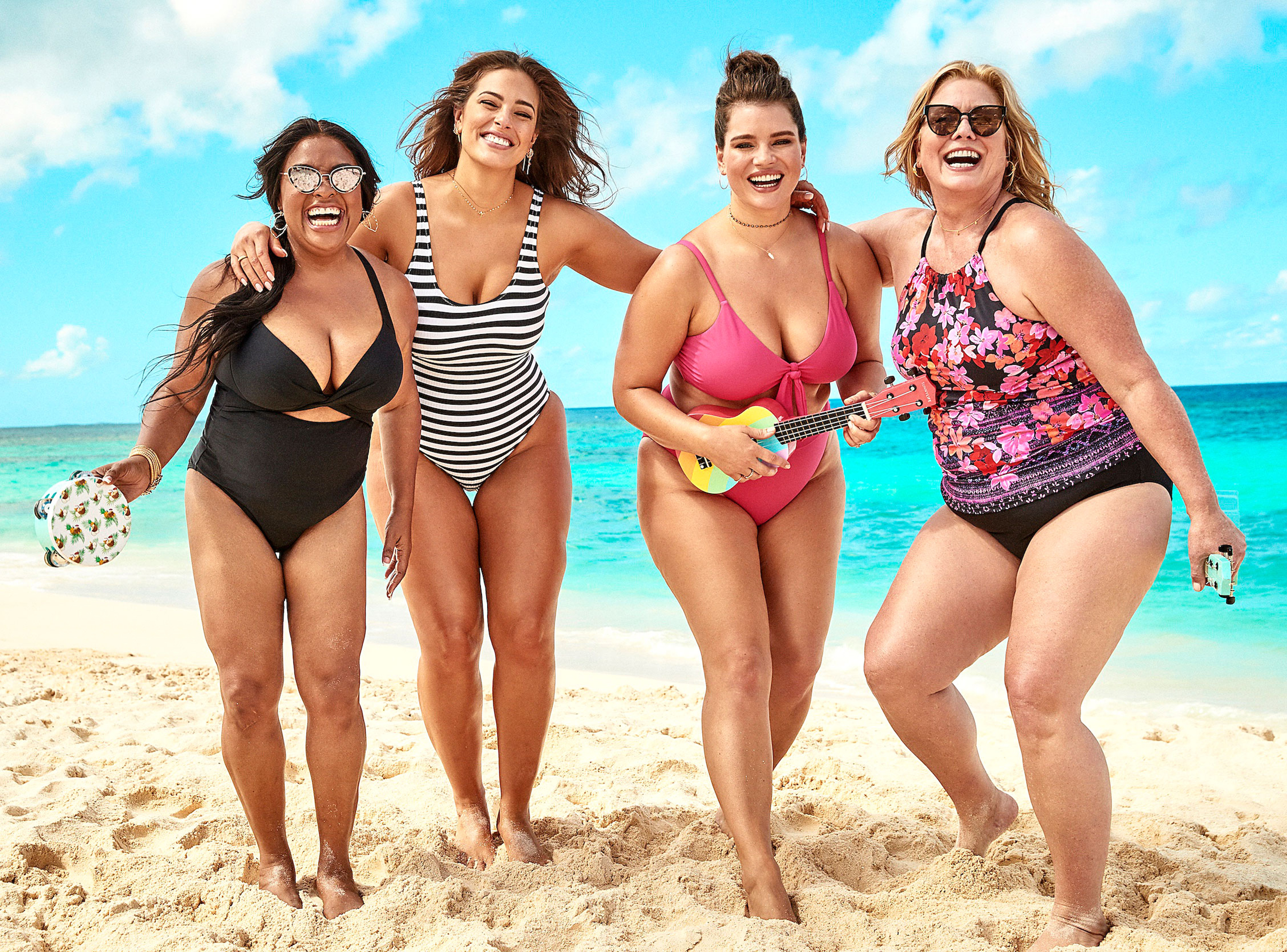Ashley Graham Sherri Shepherd Lead Body-Positive Swim Campaign - Ashley Graham is no stranger to showing off her curves in swimsuits. But in a new collaborative, co-ed campaign called Every.