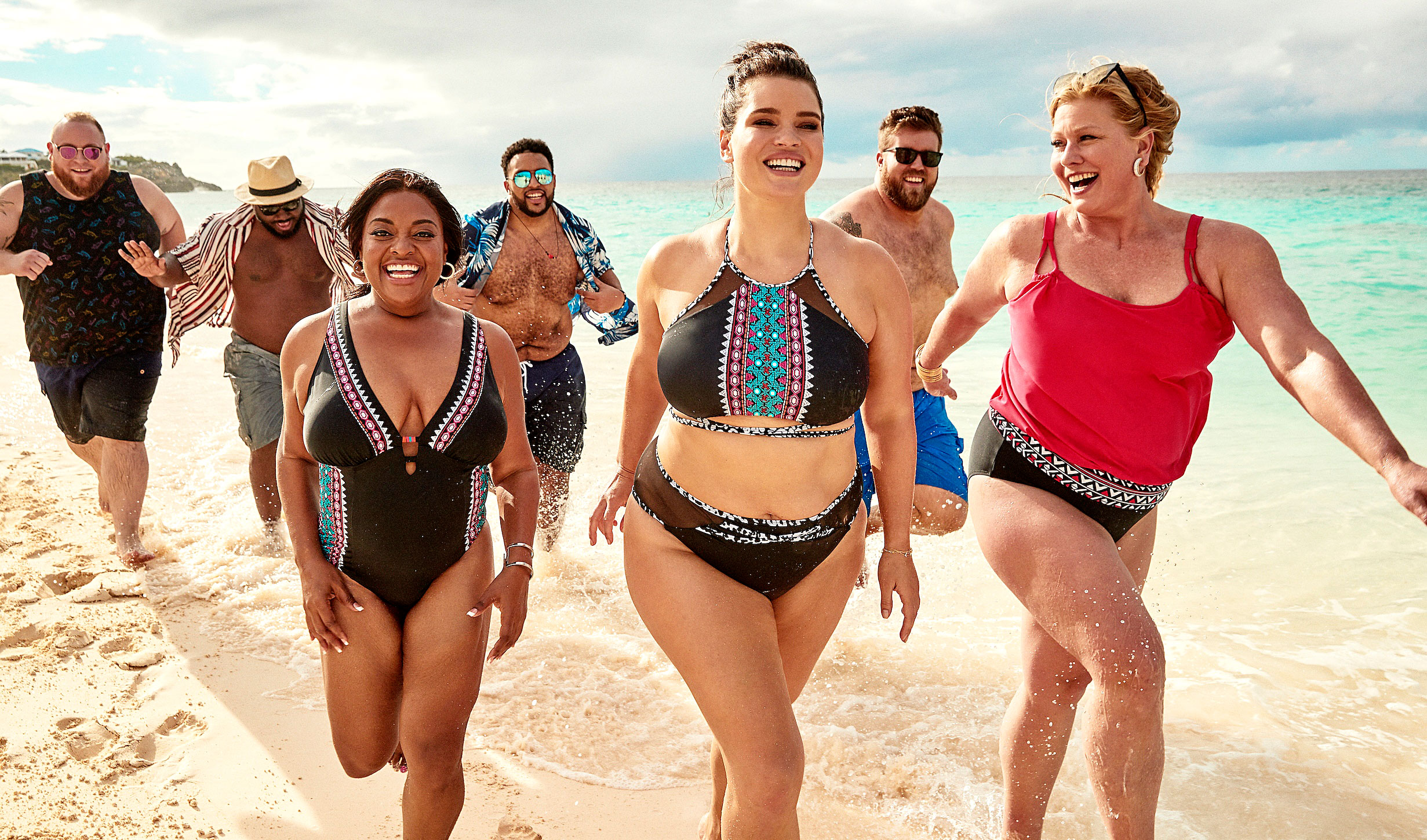 Ashley Graham Sherri Shepherd Lead Body-Positive Swim Campaign - The collection from Swimwear For All includes women's sizes 4 to 40. KingSize's summer collection includes sizes BIG XL-9X and TALL L-6XL.