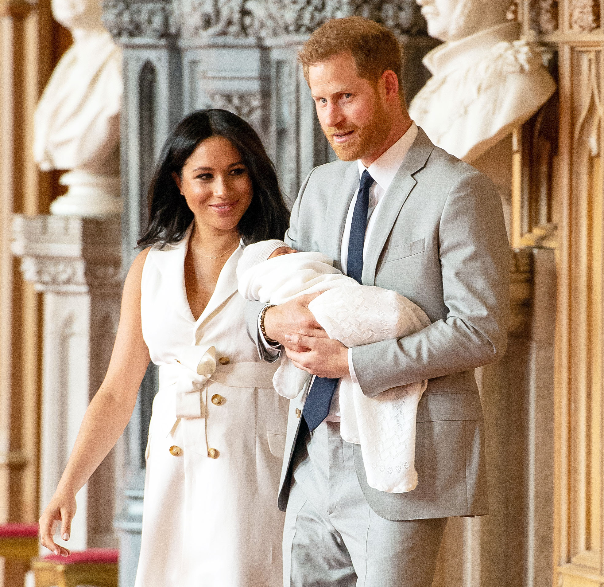 Queen Elizabeth II Meets Duchess Meghan, Prince Harry's Baby