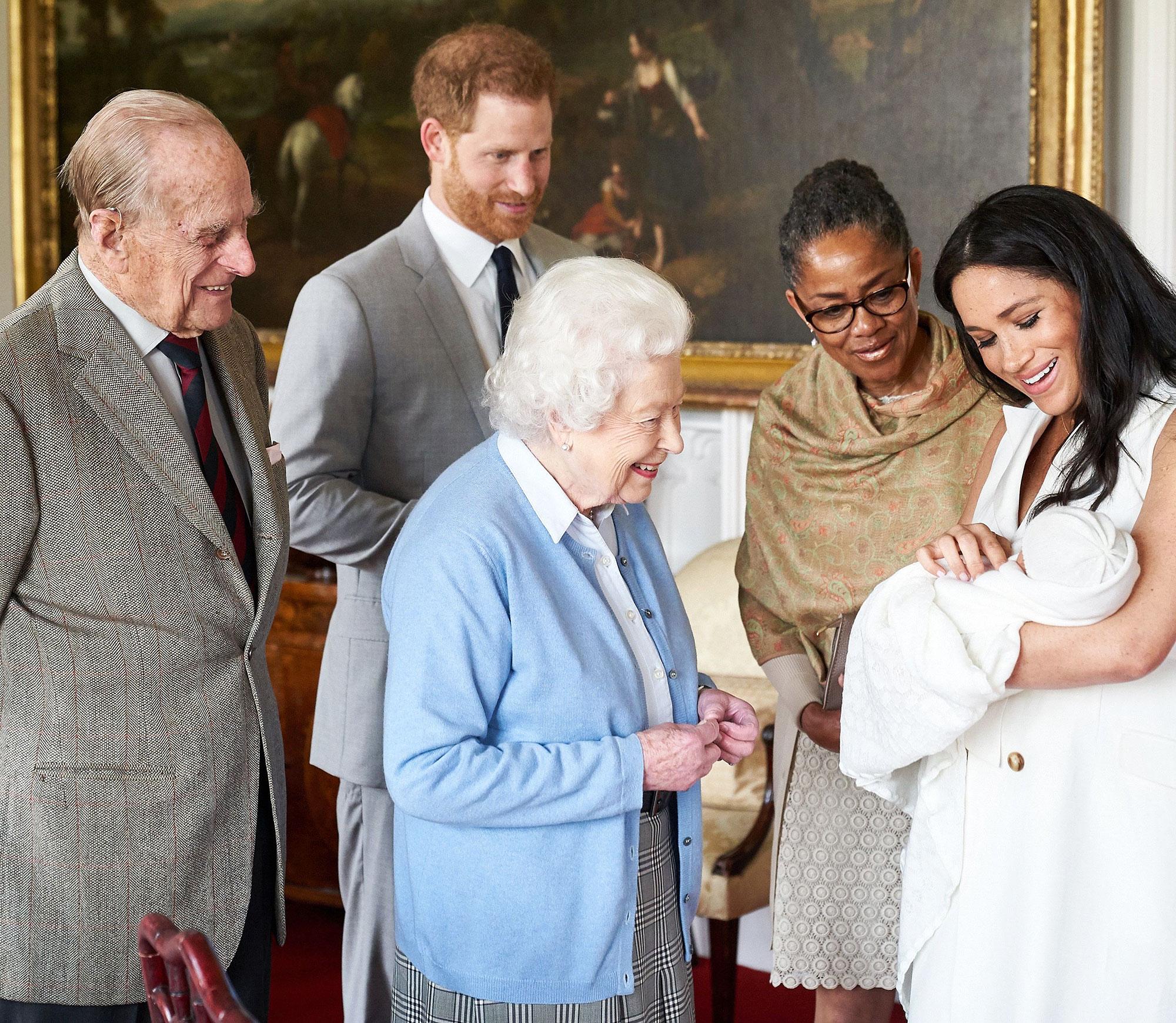 Image result for queen elizabeth meets baby sussex