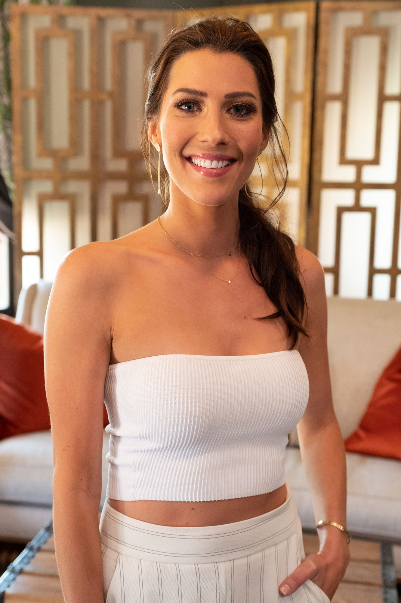 """Becca Kufrin """"Bachelorette Reunion: The Biggest Bachelorette Reunion in Bachelor History Ever!"""" - Kufrin is still engaged to her final rose recipient, Garrett Yrigoyen . The 29-year-old used the reunion platform to advocate for adding a dog to their brood."""