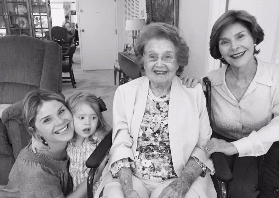 Laura Bush Mourns the Death of Her Mother Jenna Who Died at Age 99: 'We Miss Her Dearly'