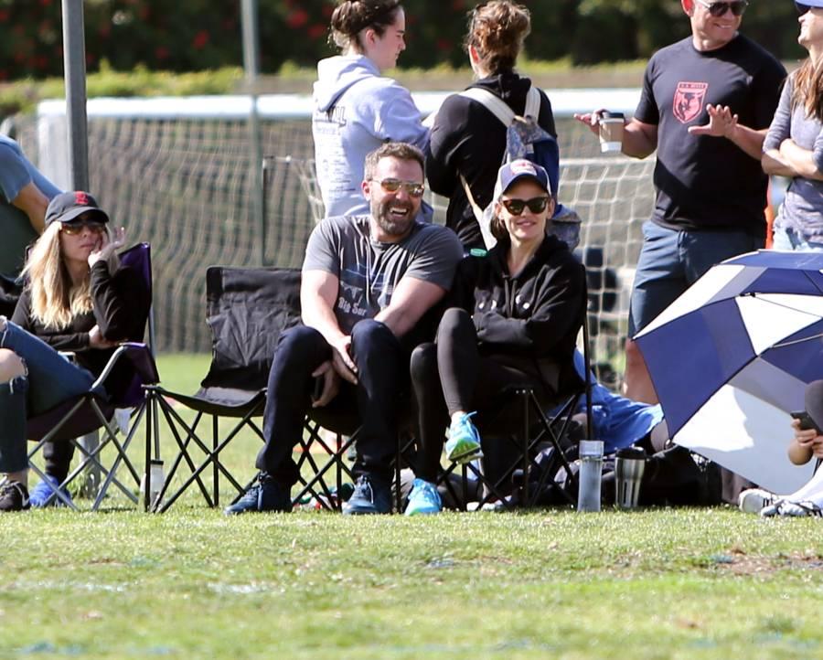 Ben Affleck Laughs With Ex Jennifer Garner at Kid's Sports Game