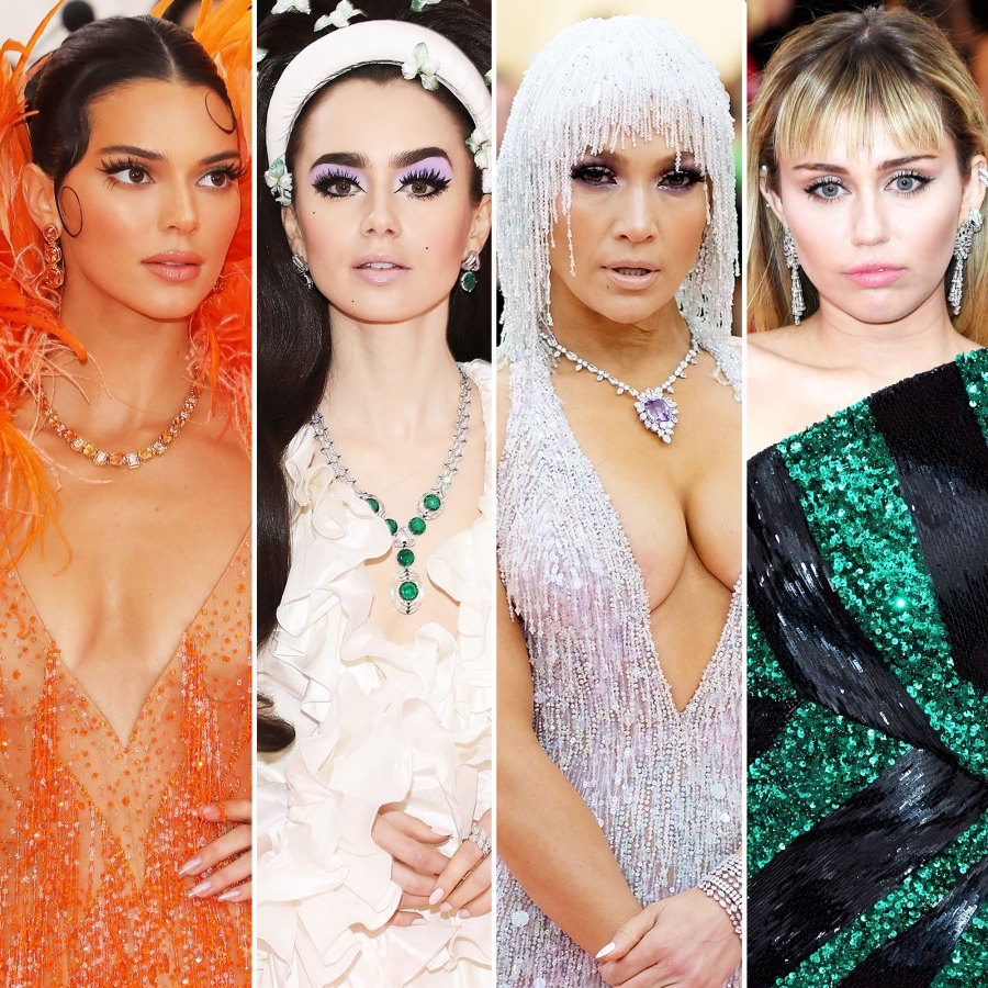 Kendall Jenner, Lily Collins, Jennifer Lopez, and Miley CyrusMet Gala 2019 Red Carpet Jewelry: Best Celebrity Bling