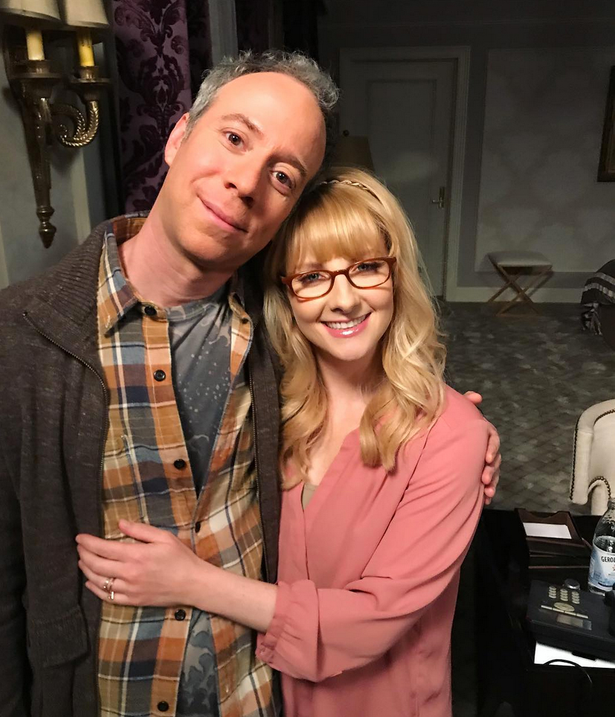 """Big-Band-Theory-Kevin-Sussman-Melissa-Rauch - """"The friends you make along the way... One of the best things about showing up to Stage 25 all these years has been seeing @themelissarauch's smiling face,"""" Kevin Sussman , who played Stuart on the series, captioned a photo of himself with Rauch."""