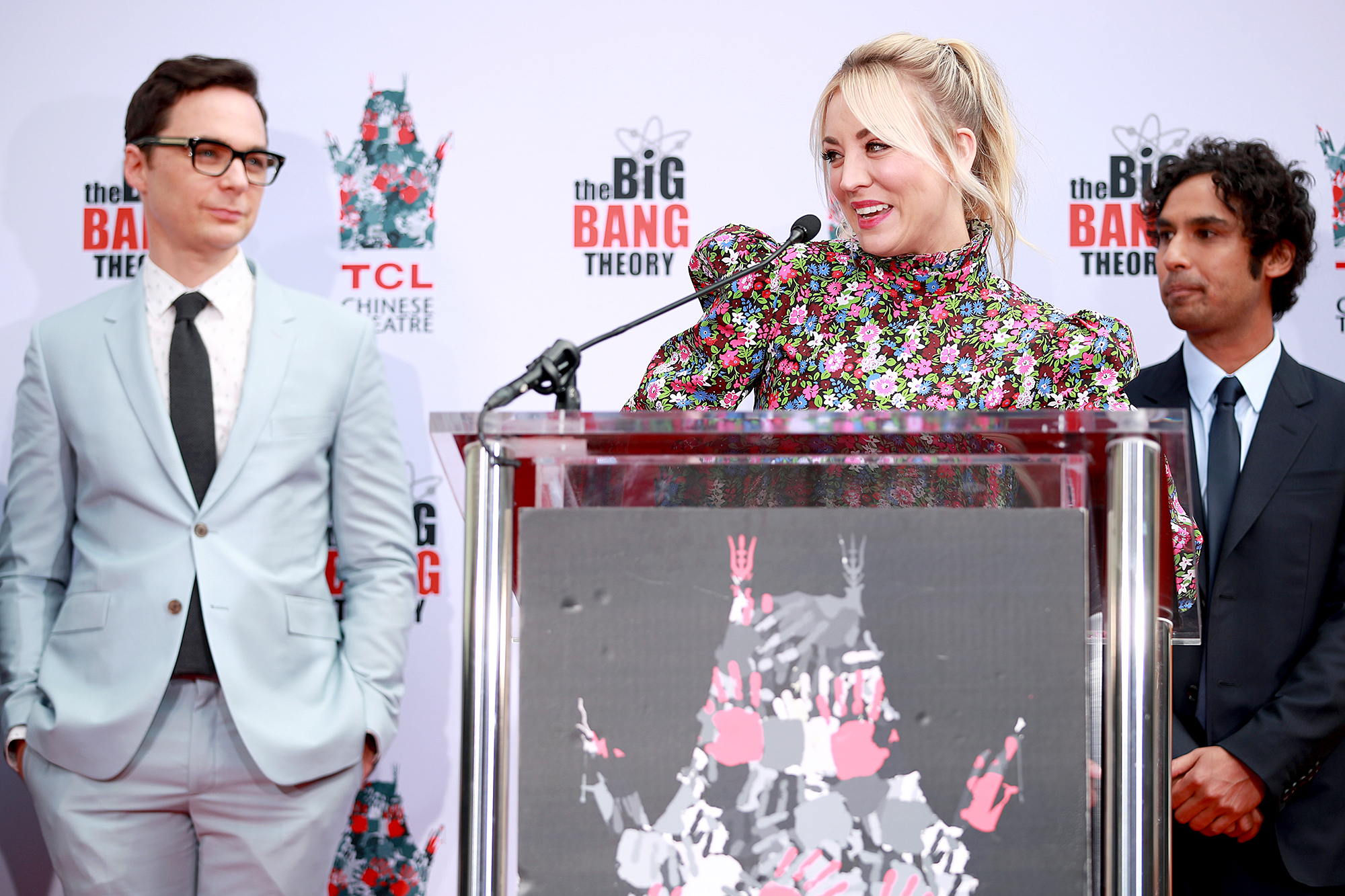"""Big-Bang-Theory-Handprint-Ceremony - """"Grateful for the endless dream that is the Big Bang Theory ,"""" the Yes, Norman Productions founder wrote on Instagram , posting a photo of the handprint ceremony."""