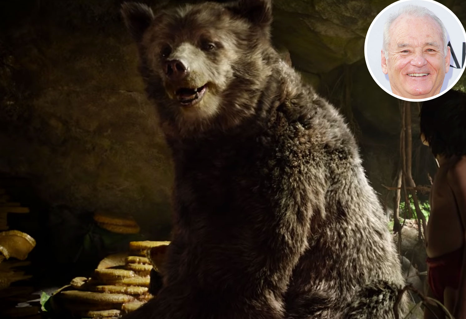 Bill Murray The Jungle Book Baloo Voice Over Disney and Pixar Characters - Baloo in The Jungle Book (2016)