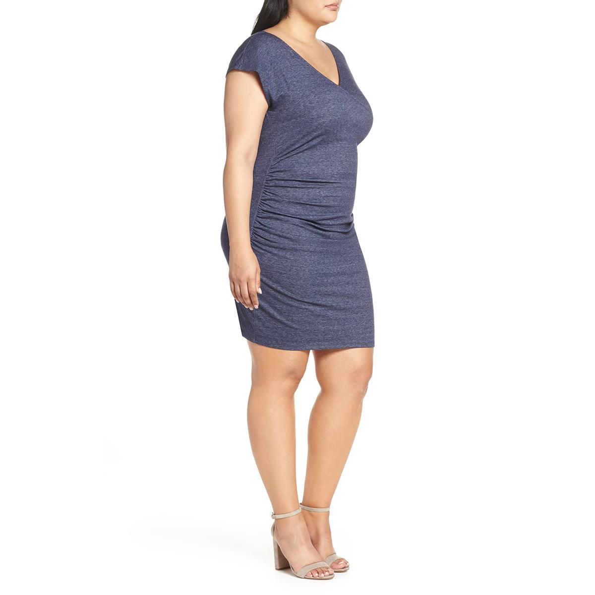 Blue Surplice Dress