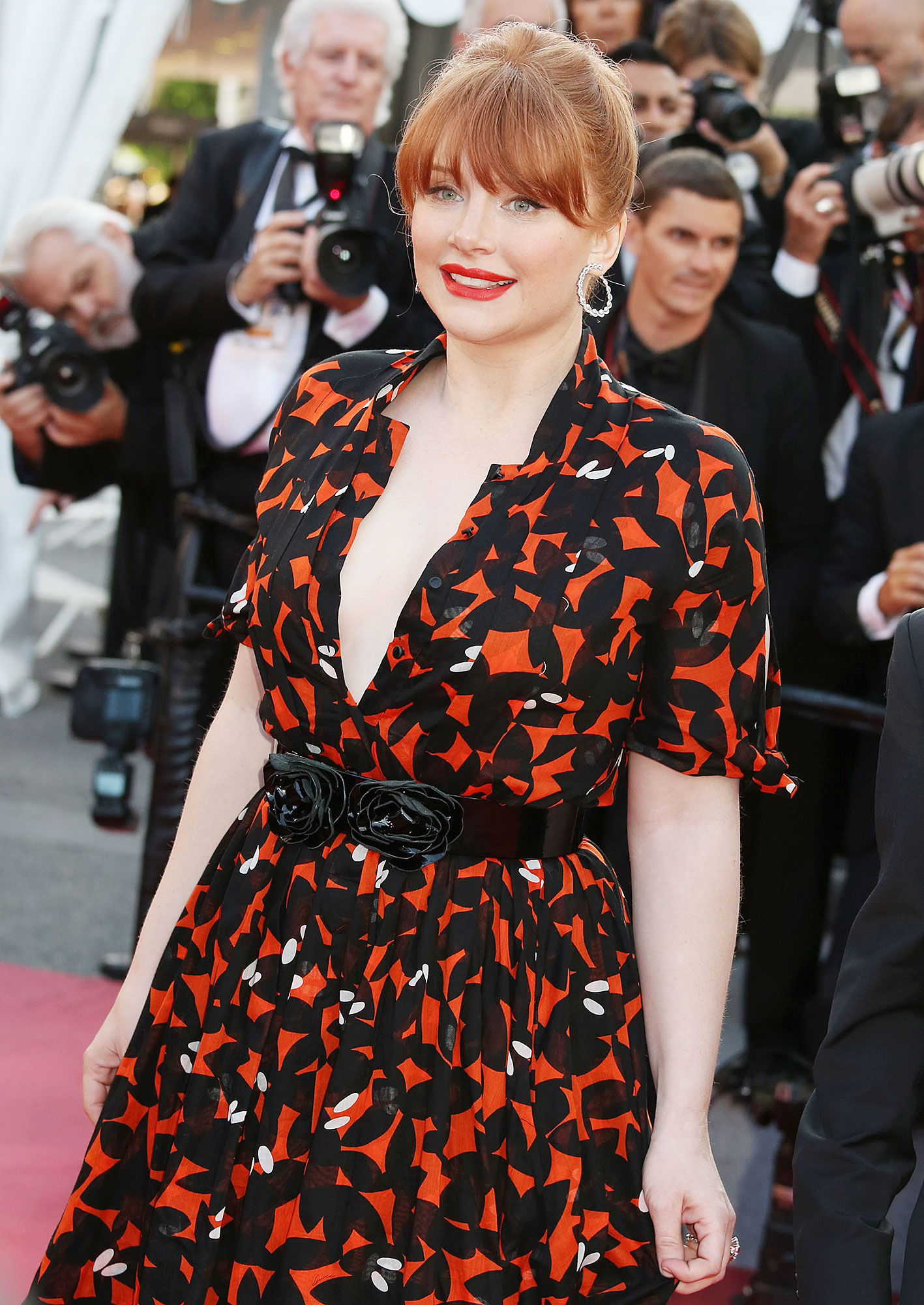 """Bryce Dallas Howard Cannes Film Festival Real Real Consignment - Bryce Dallas Howard departs from the screening of """"Rocketman"""" during the 72nd annual Cannes Film Festival on May 16, 2019 in Cannes, France."""