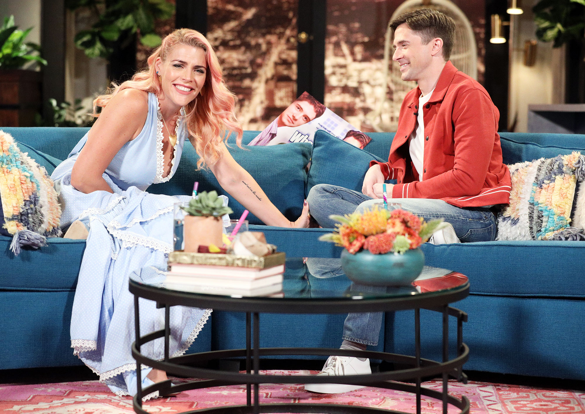 Busy Philipps Devastated Busy Tonight Cancelation Topher Grace