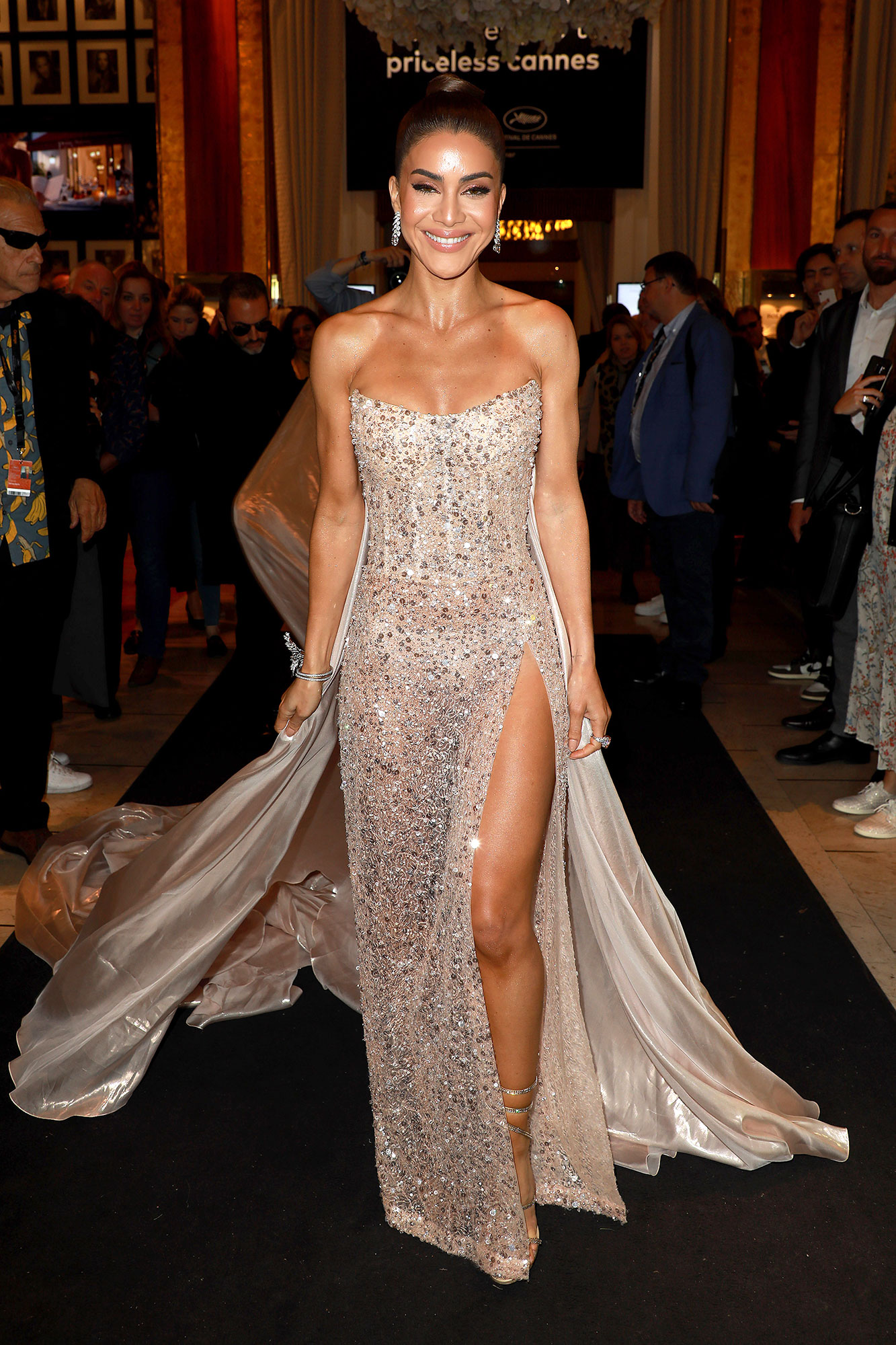 Camilla Coelho Stepping Out in Style at Cannes Film Festival - The blogger showed some skin in a sheer Georges Hobeika number on Sunday, May 19.