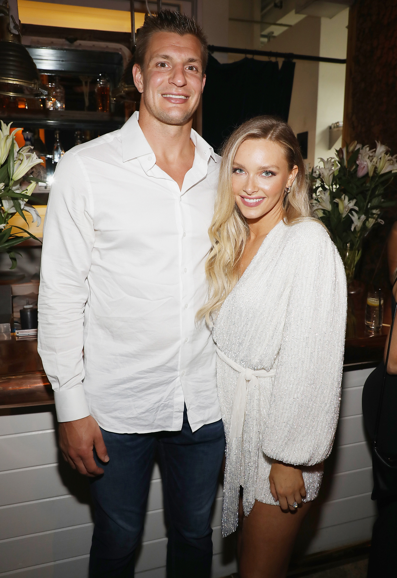 Camille Kostek Sports Illustrated Cover - Rob Gronkowski and Camille Kostek attend the Sports Illustrated Swimsuit 2019 Issue Launch at Seaspice on May 10, 2019 in Miami, Florida.