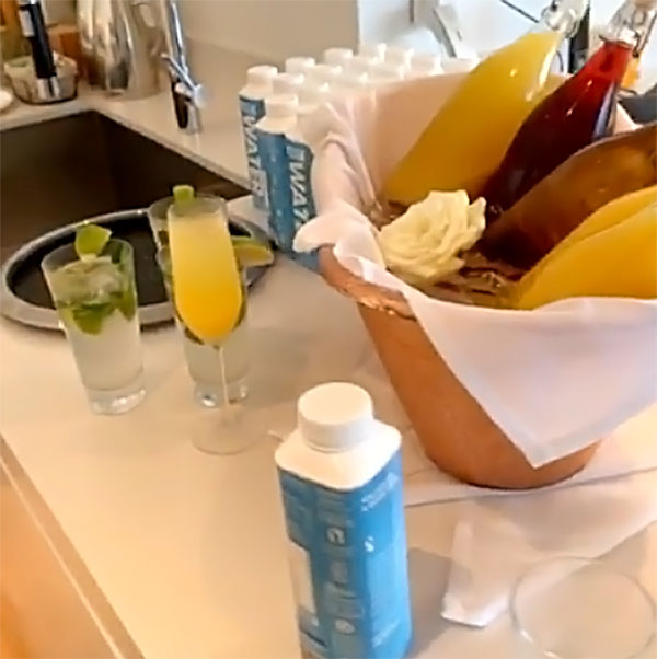 Cardi B's Mother's Day Feast - If you're a celeb, no breakfast is complete without some fresh-squeezed juice. Cardi's spread included orange juice and cranberry juice as well as boxed water.