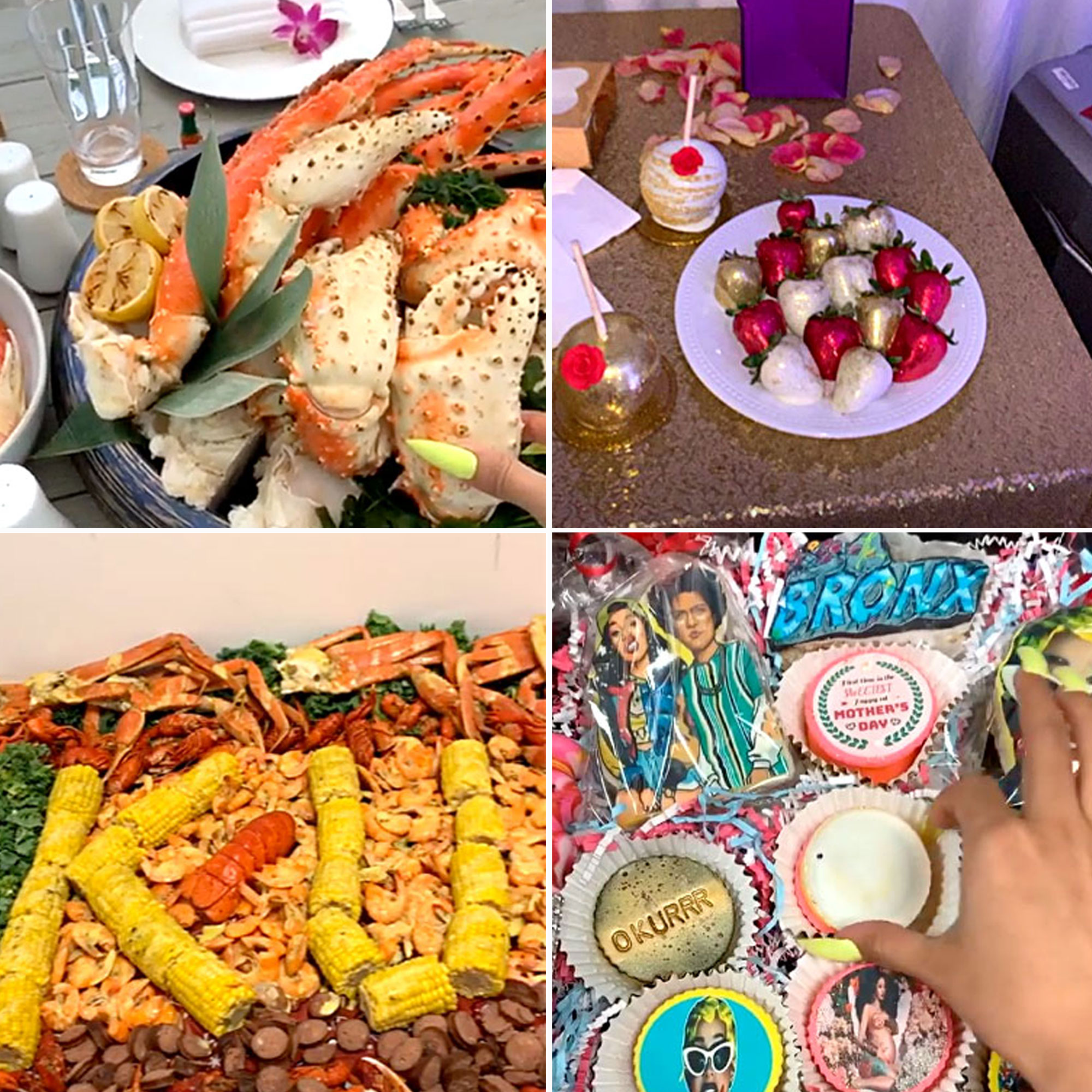 "Cardi B's Mother's Day Feast - Offset made sure he spoiled wife Cardi B on Mother's Day! In honor of the ""I Like It"" rapper's first holiday (she and her husband have a 10-month old daughter named Kulture), the Migos member surprised his lady love with not one but two over-the-top meals."