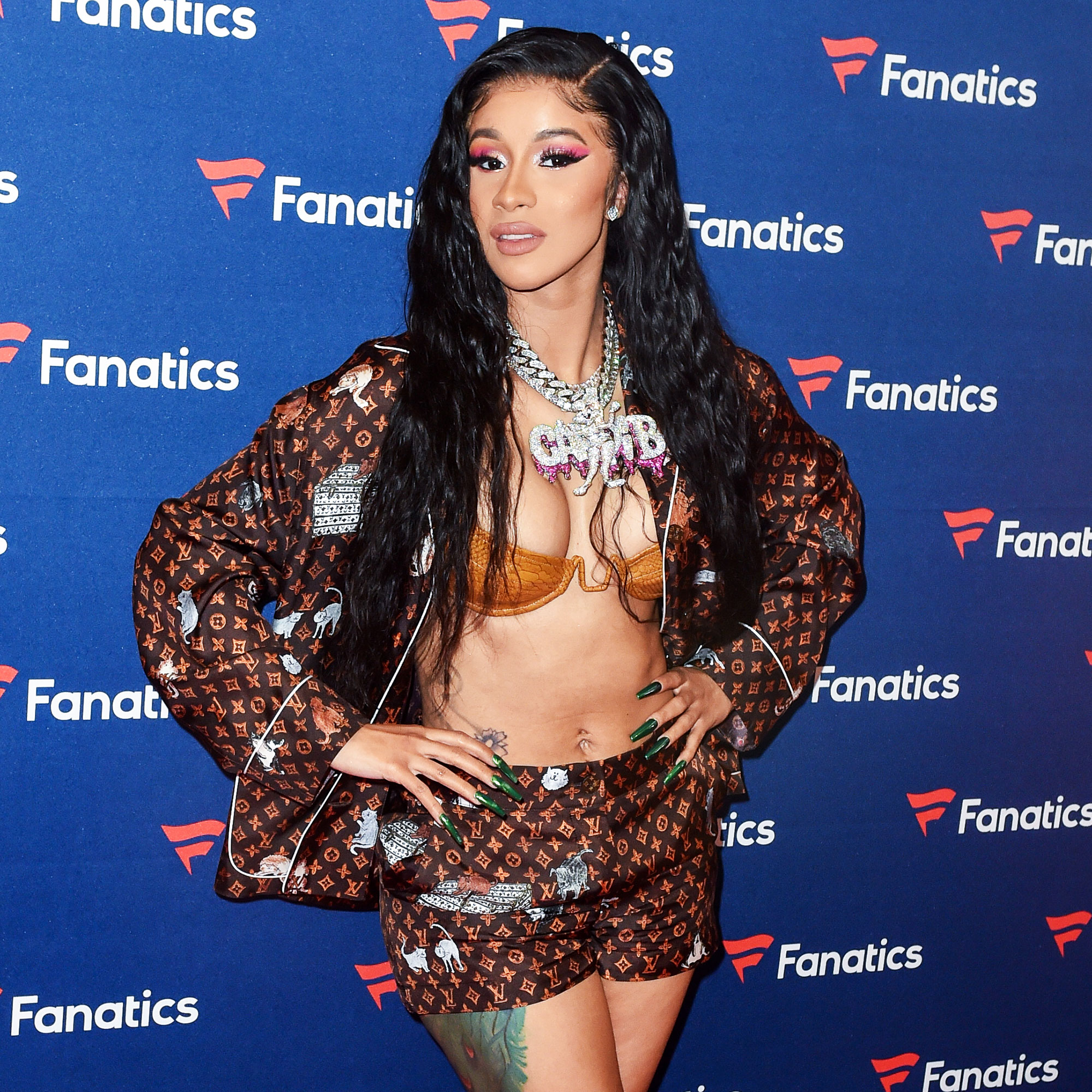 Cardi B's Mother's Day Feast - Cardi B. arrives to Michael Rubin's Fanatics Super Bowl Party at the College Football Hall of Fame on February 2, 2019 in Atlanta, Georgia.