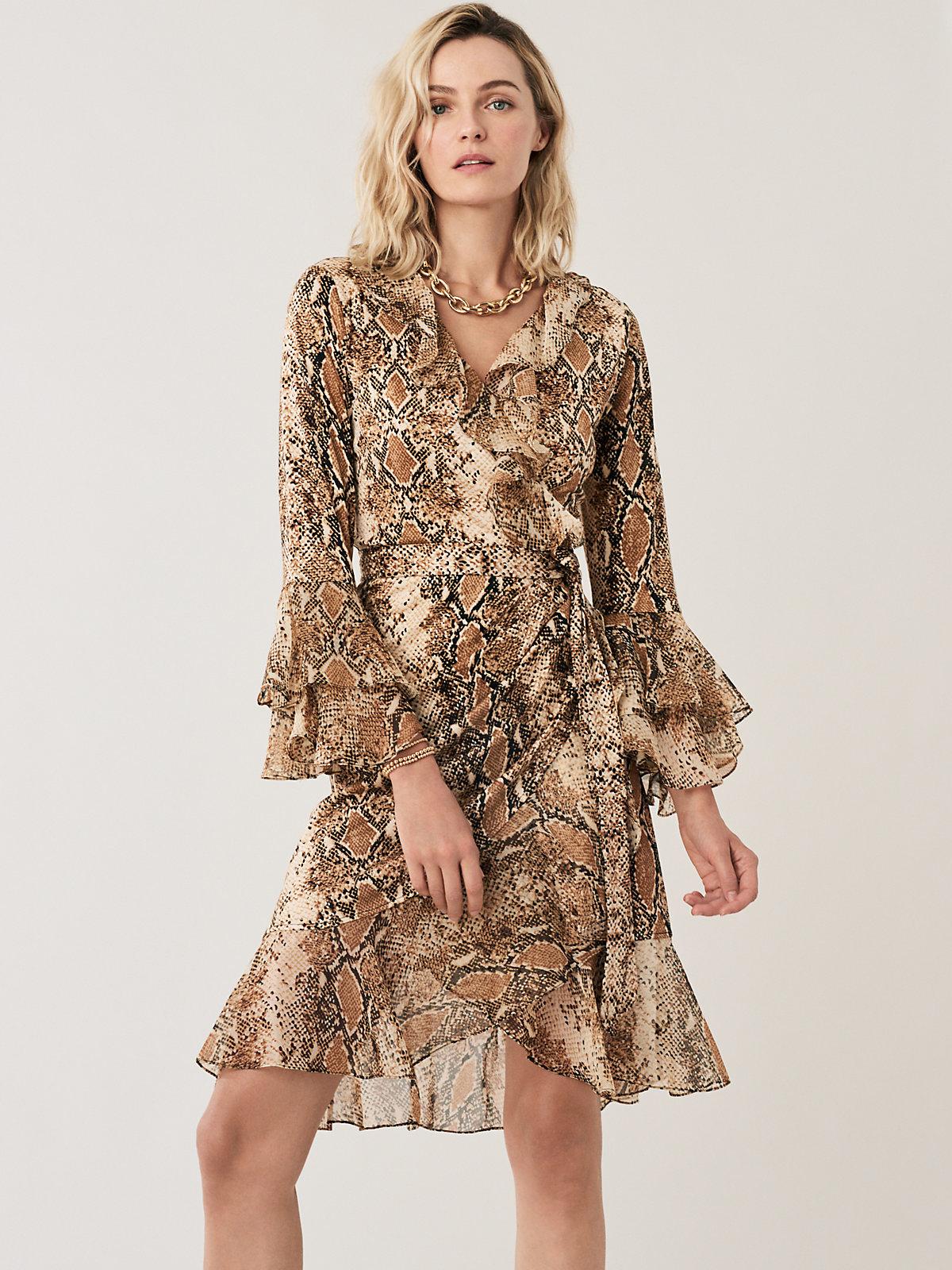 3c7044b18e4 Carli Dress Front Diane von Furstenberg. See it: Get the Carli Ruffled Silk-Jersey  Wrap ...